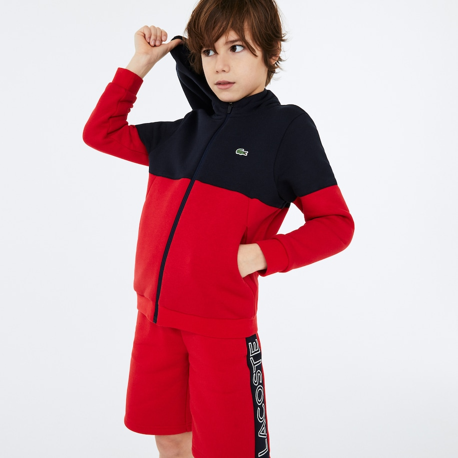 Boys' Lacoste SPORT Colourblock Fleece Zip Jacket