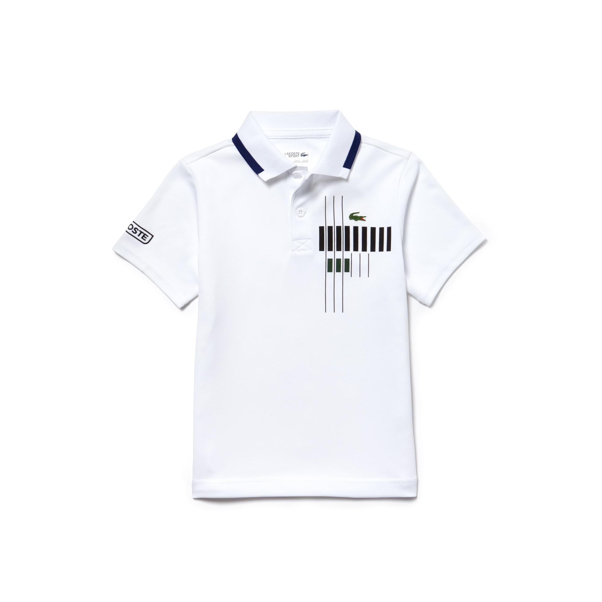Boys'  SPORT Tennis Brand Design Technical Piqué Polo