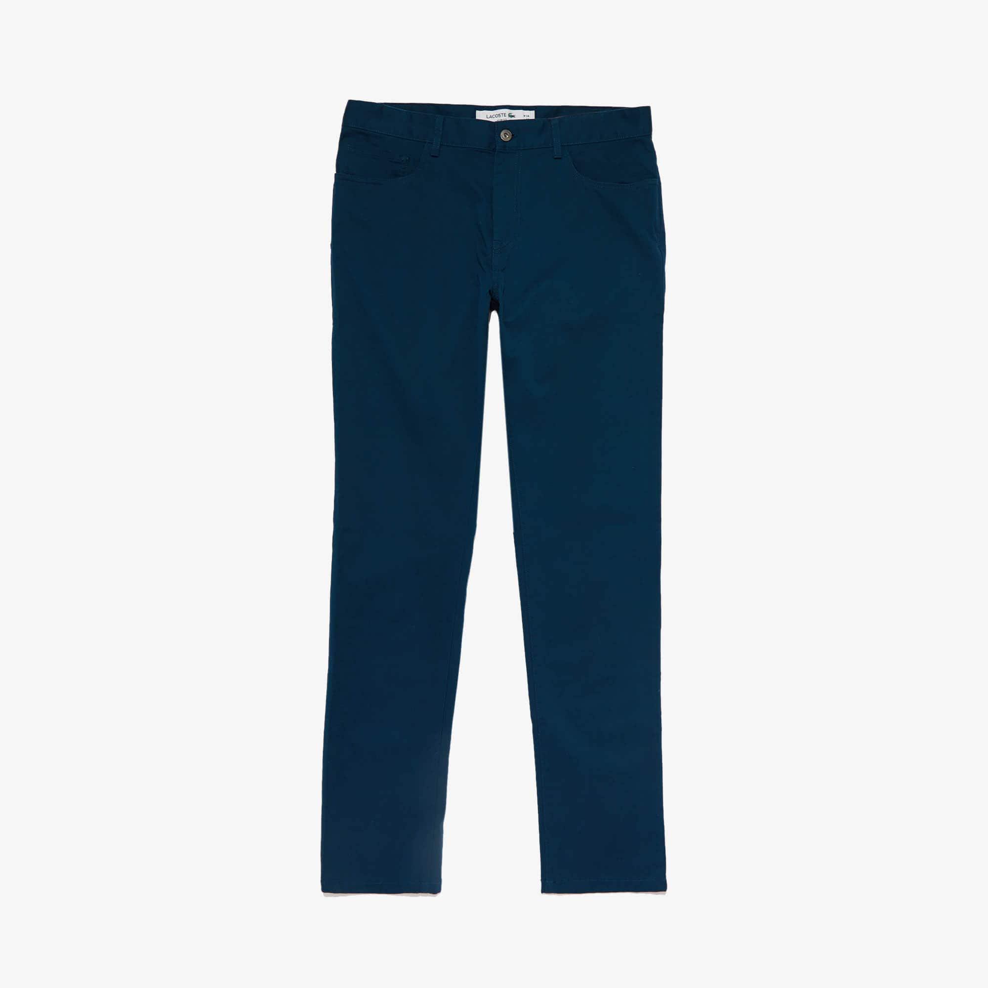 Lacoste Pants Men's Slim Fit Stretch Cotton Pants