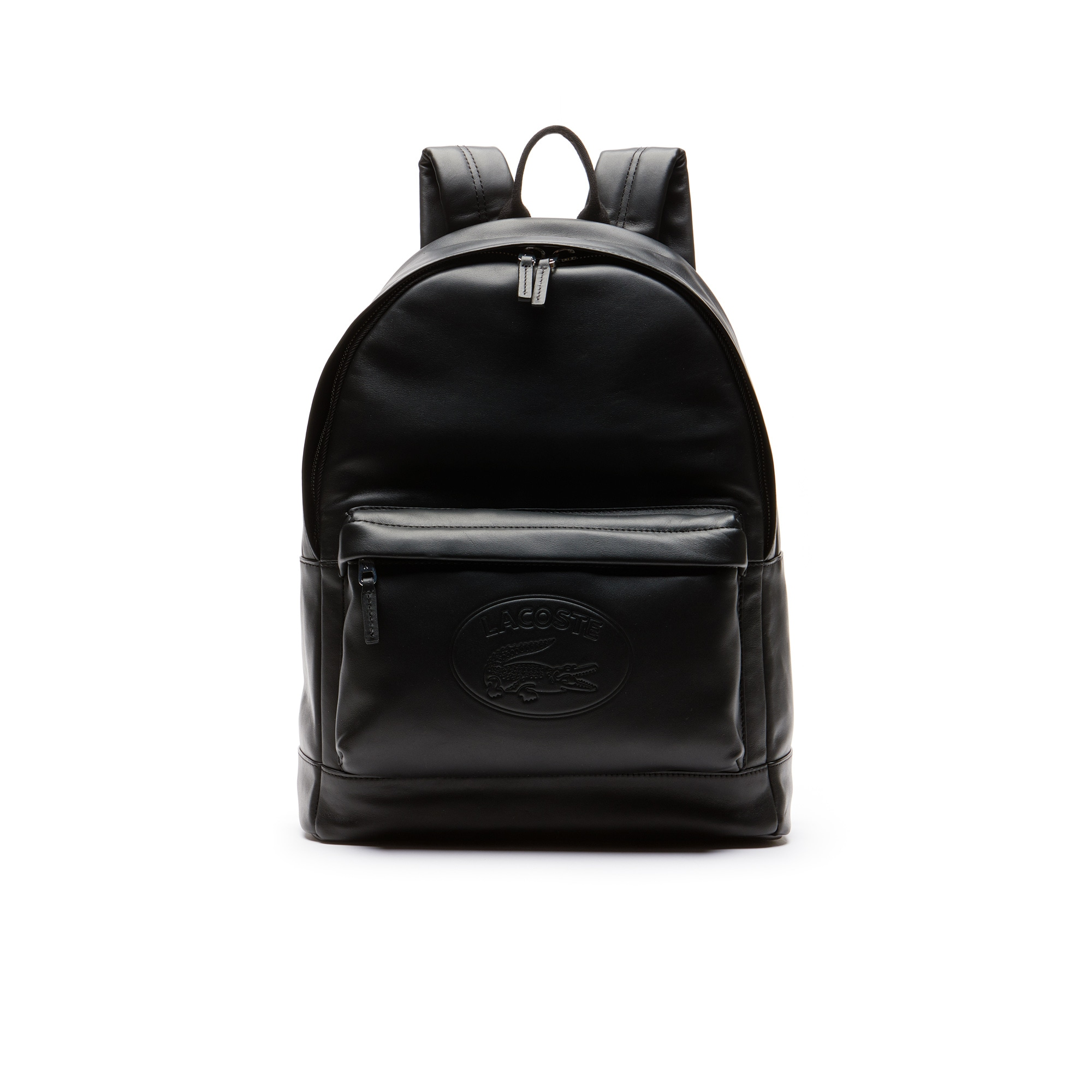 Men s L.12.12 Casual Embossed Lettering Leather Backpack 796f63ac3b