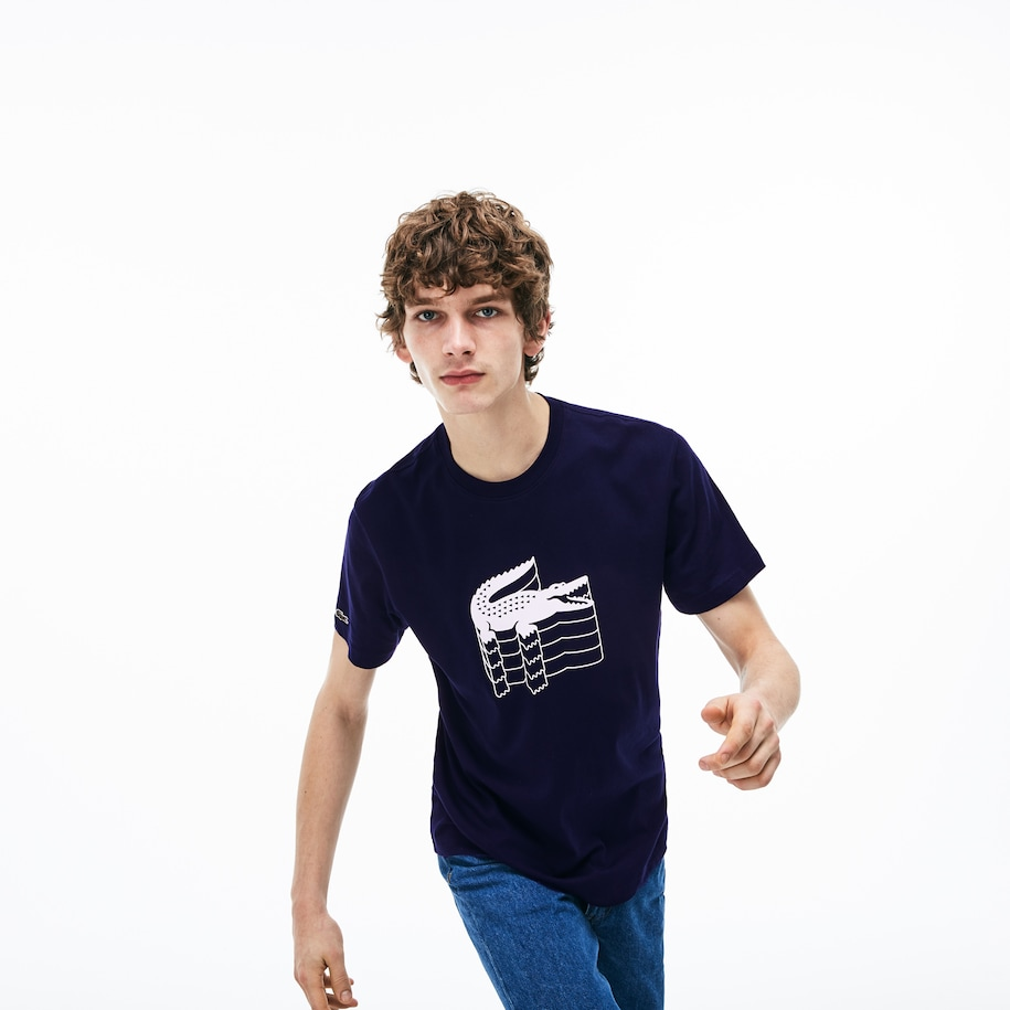 Men's Crew Neck Cotton Piqué T-shirt