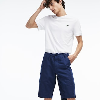 라코스테 레귤러핏 반바지 Lacoste Mens Regular Fit Cotton And Linen Shorts