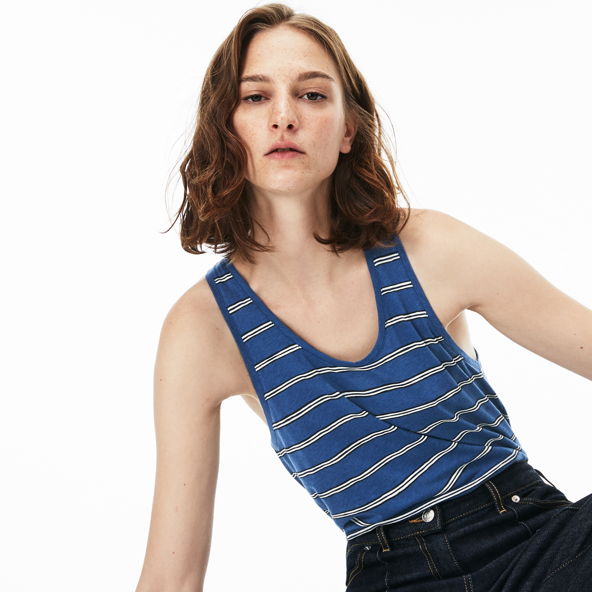 Women's Cotton And Linen Tank Top