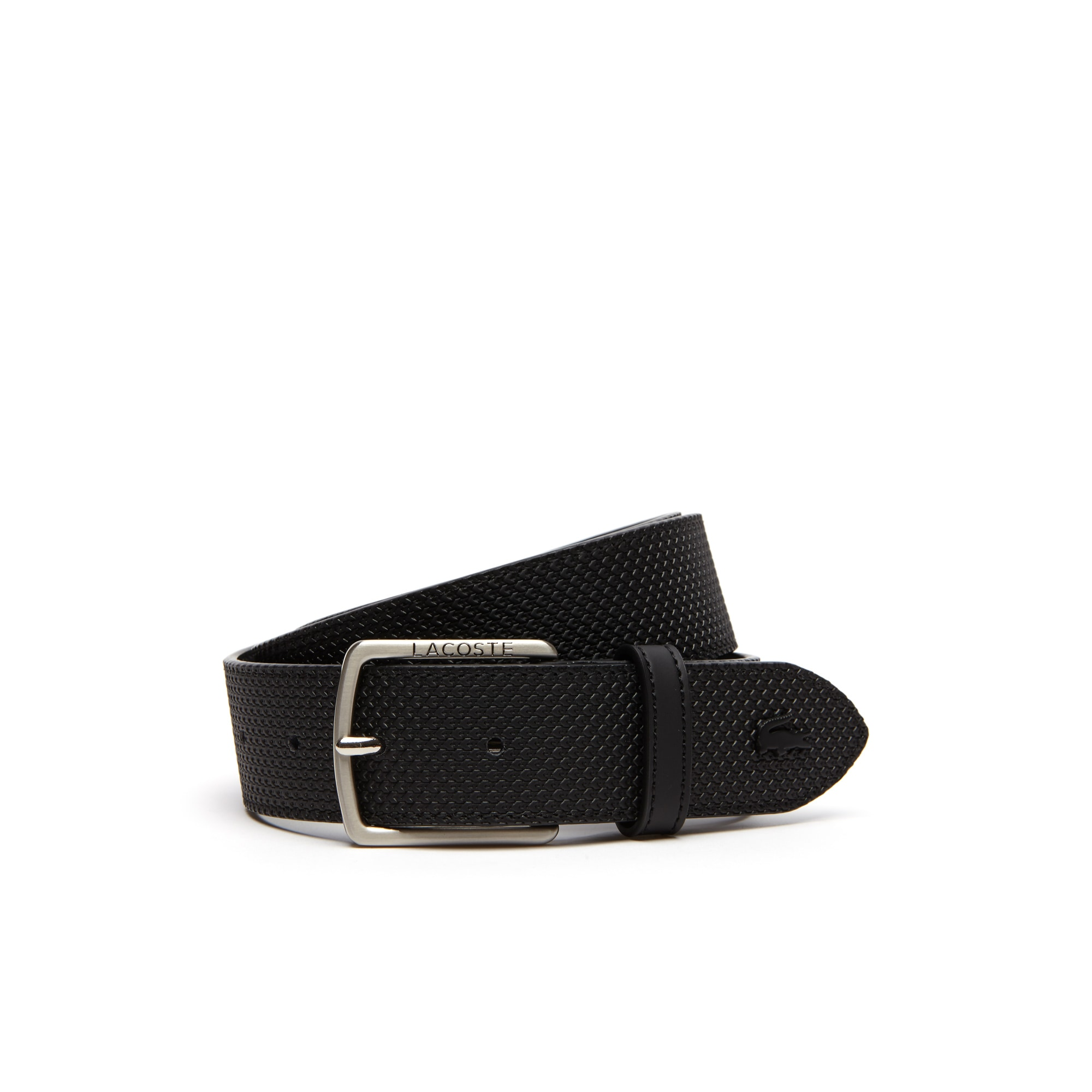 Men's Chantaco Lacoste Engraved Tongue Buckle Leather Belt