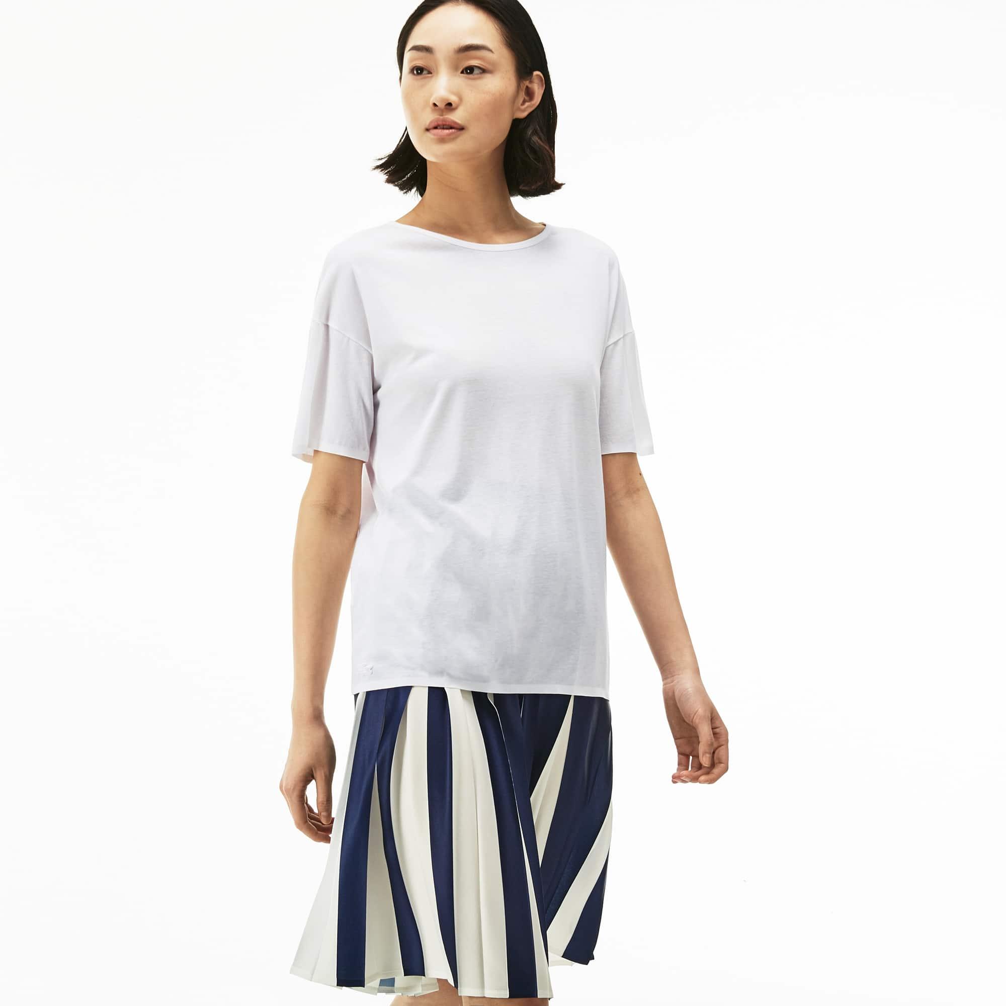 Women's Wide Neck Flowing Jersey T-Shirt