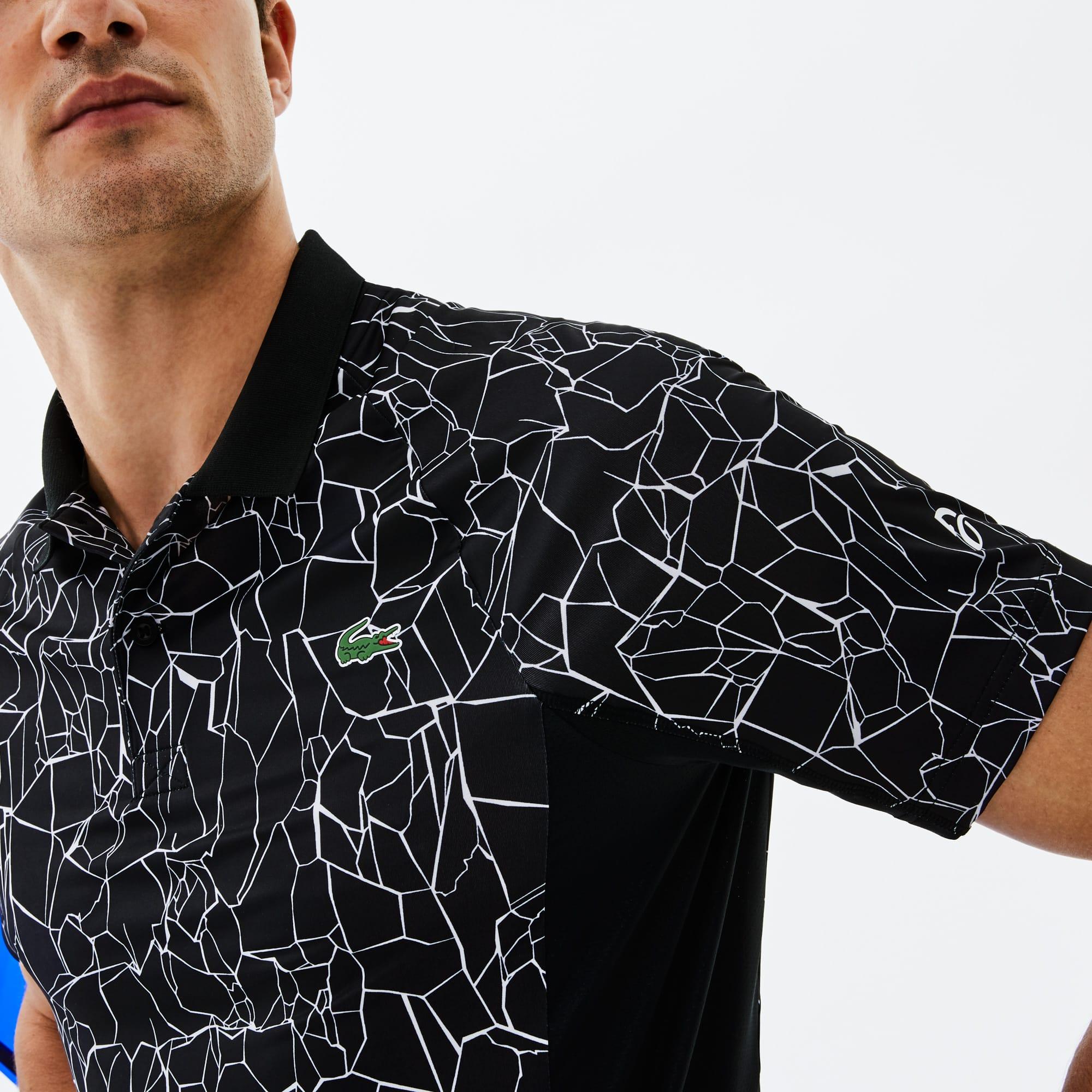 519126d2 Men's SPORT Print Technical Jersey Polo - Lacoste x Novak Djokovic ...