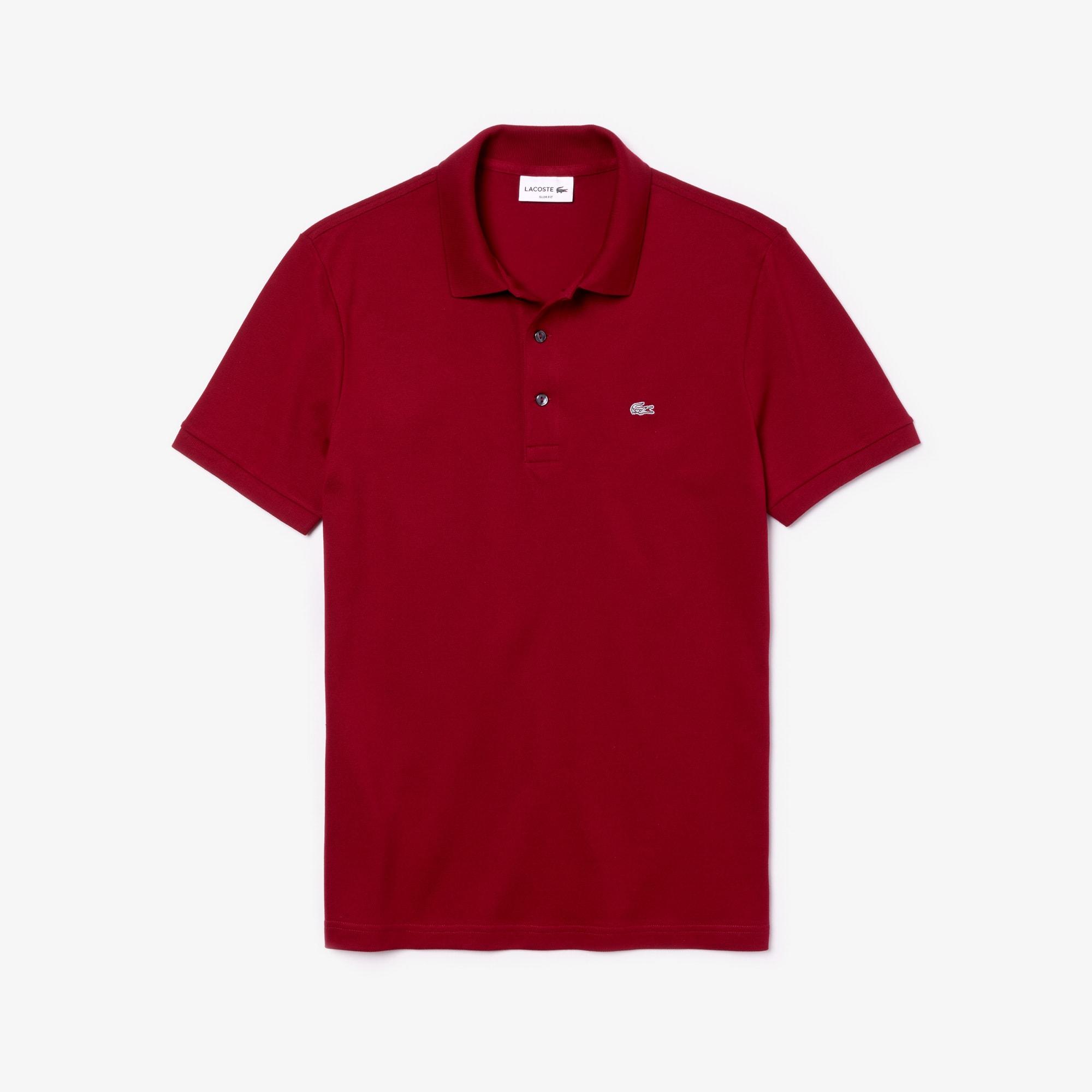 Men's Slim Fit Stretch Piqué Polo Shirt