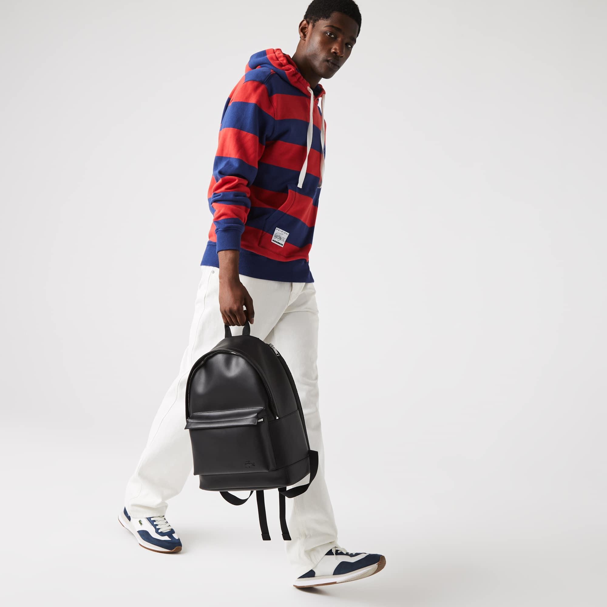 라코스테 Lacoste Men's Urban Breathe Smooth Leather Backpack