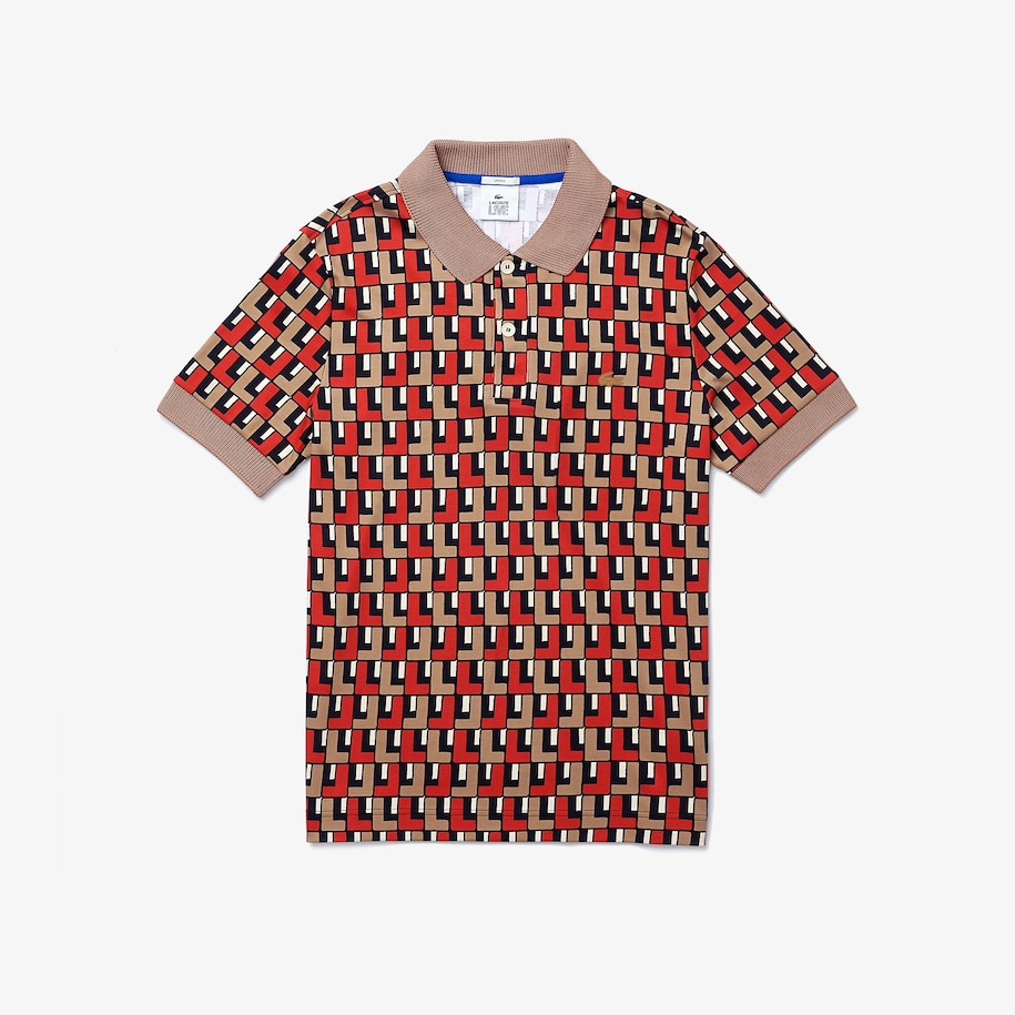 Unisex LIVE Standard-Fit Printed Cotton Polo