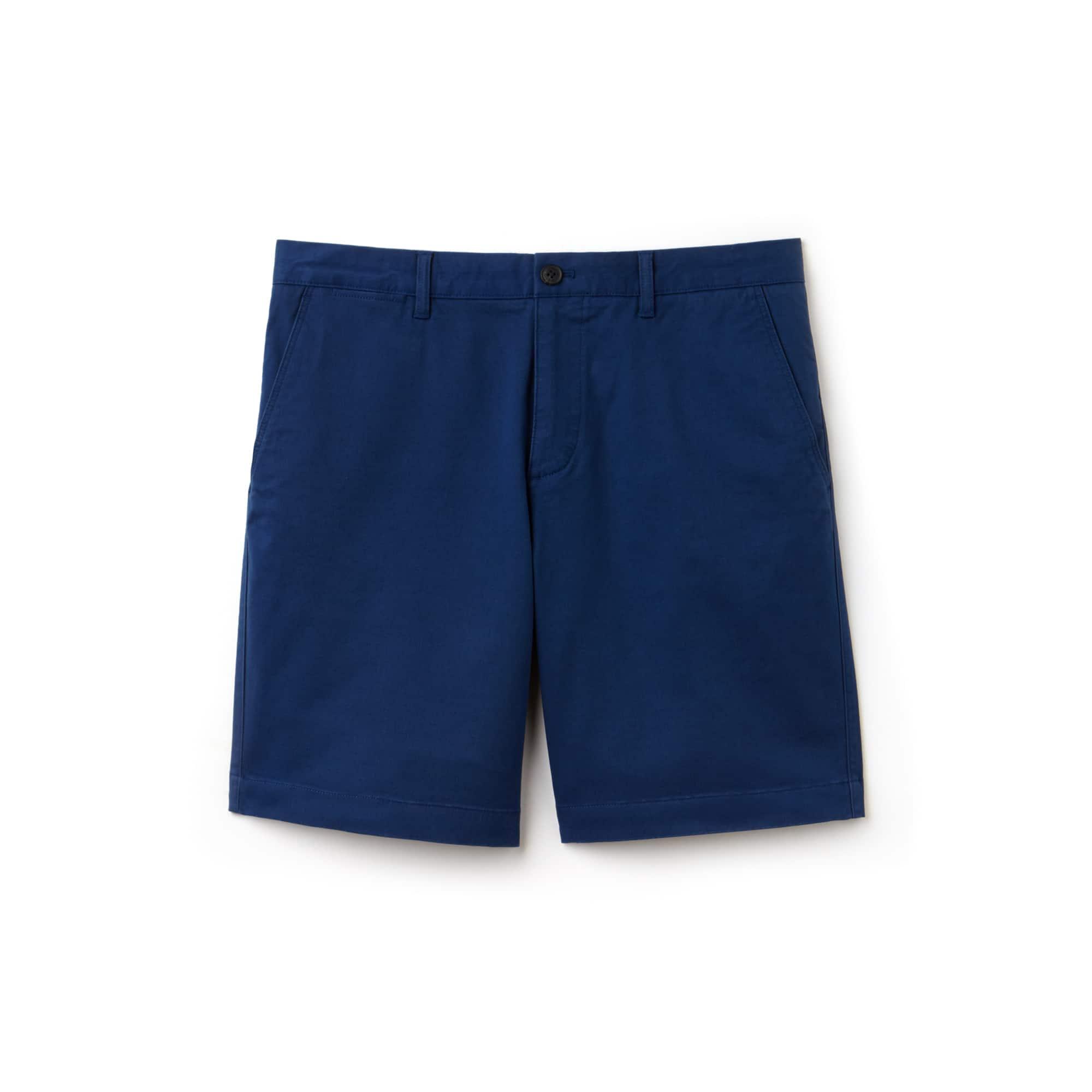라코스테 Lacoste Mens Regular Fit Cotton Gabardine Bermuda Shorts,navy blue