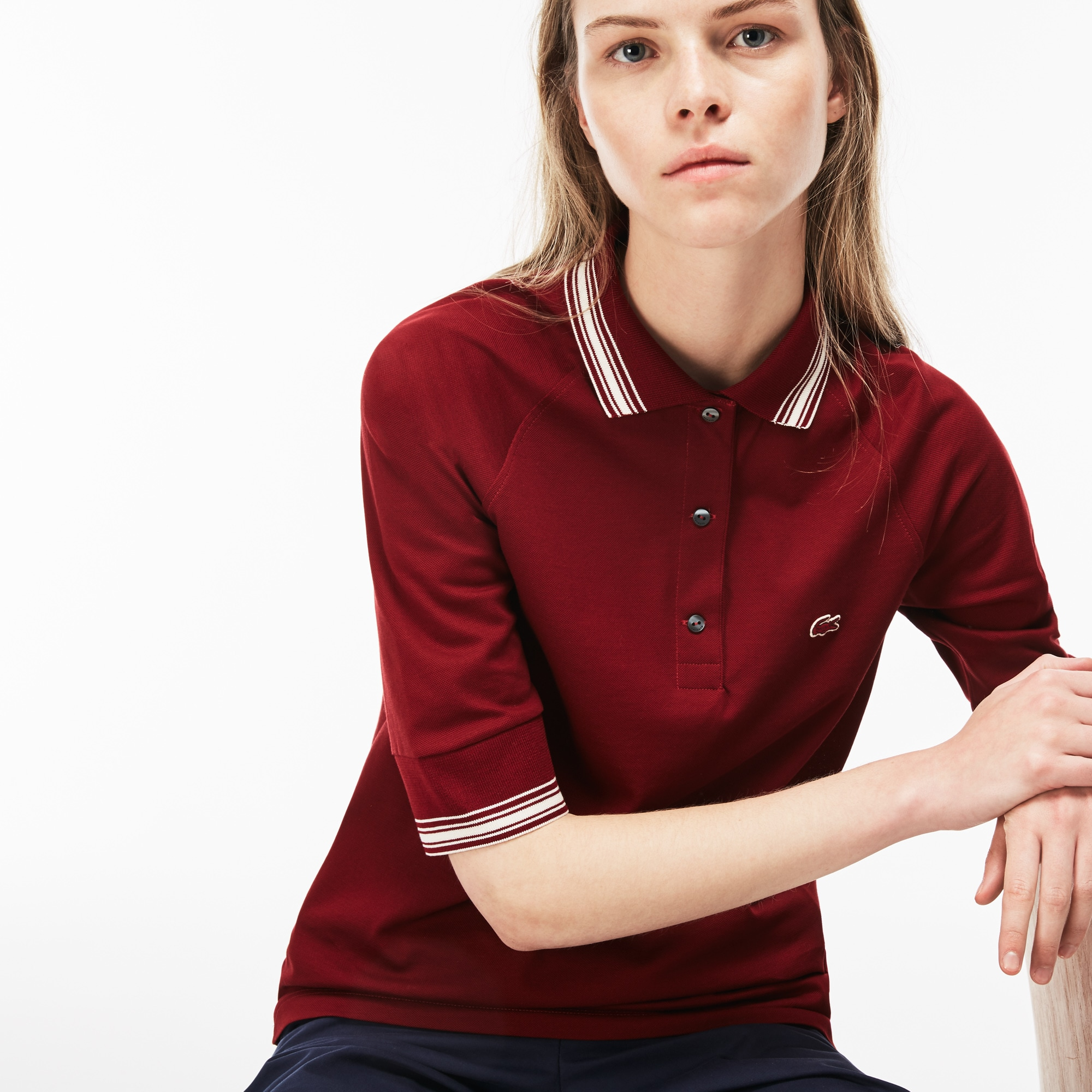 Women's Piped Piqué Polo