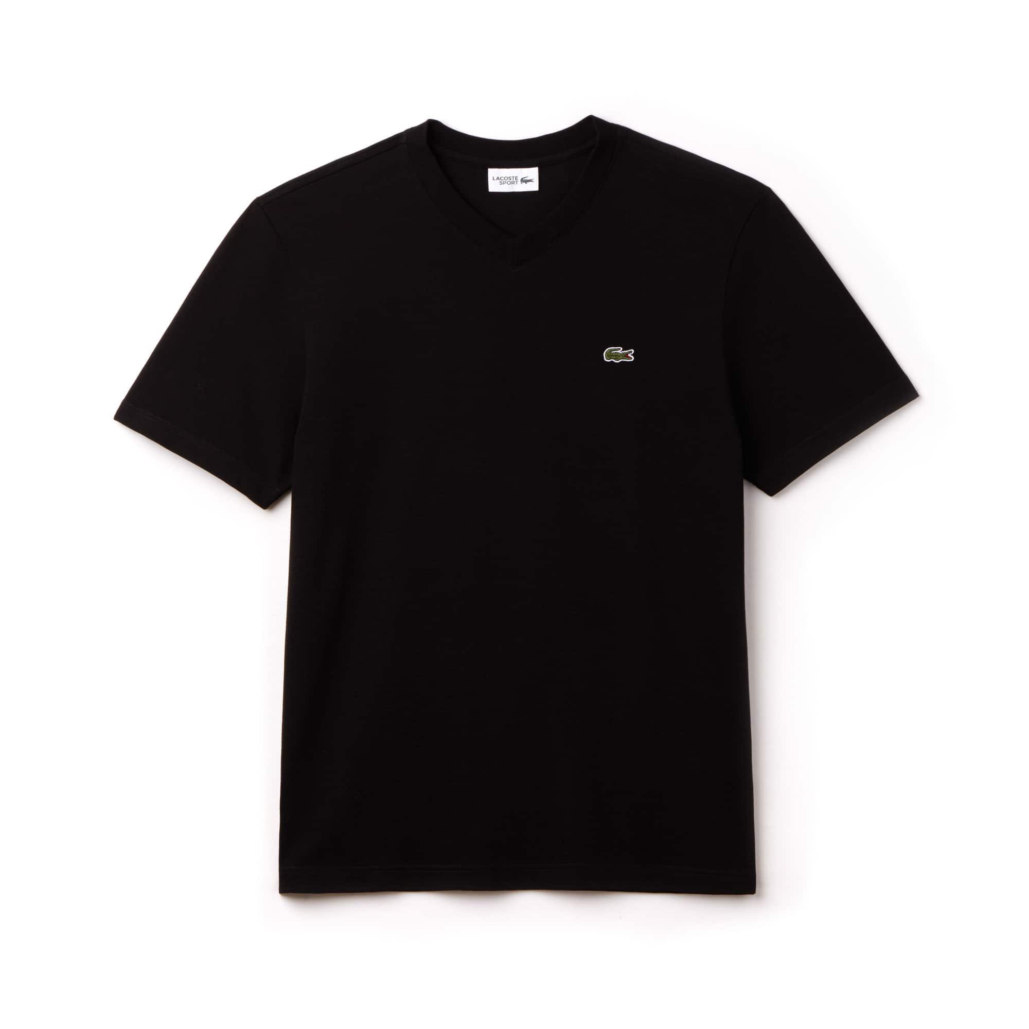 Men's SPORT V-neck Ultra-Light Cotton Tennis T-shirt
