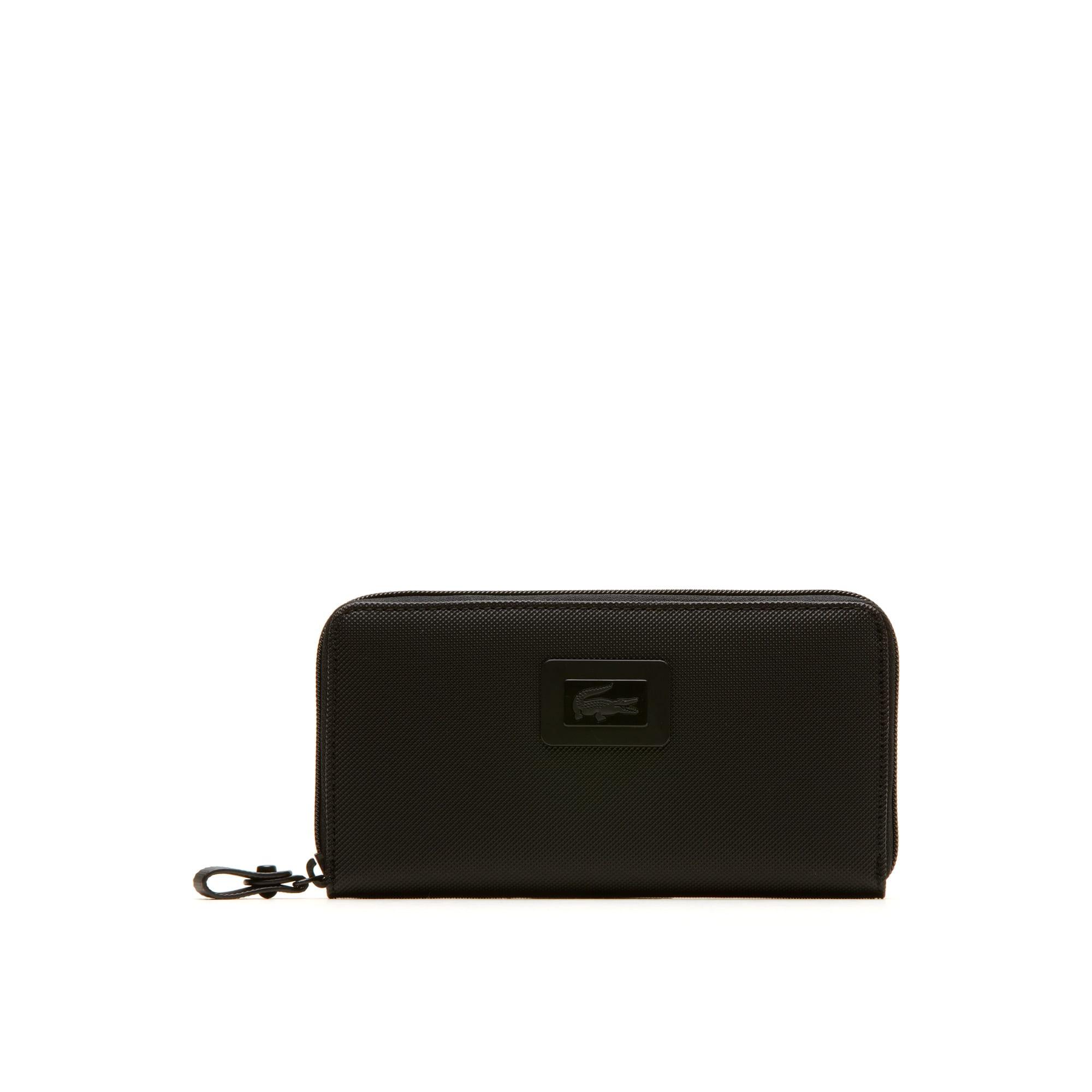 Women's Classic Monochrome Twelve-Card Zip Wallet