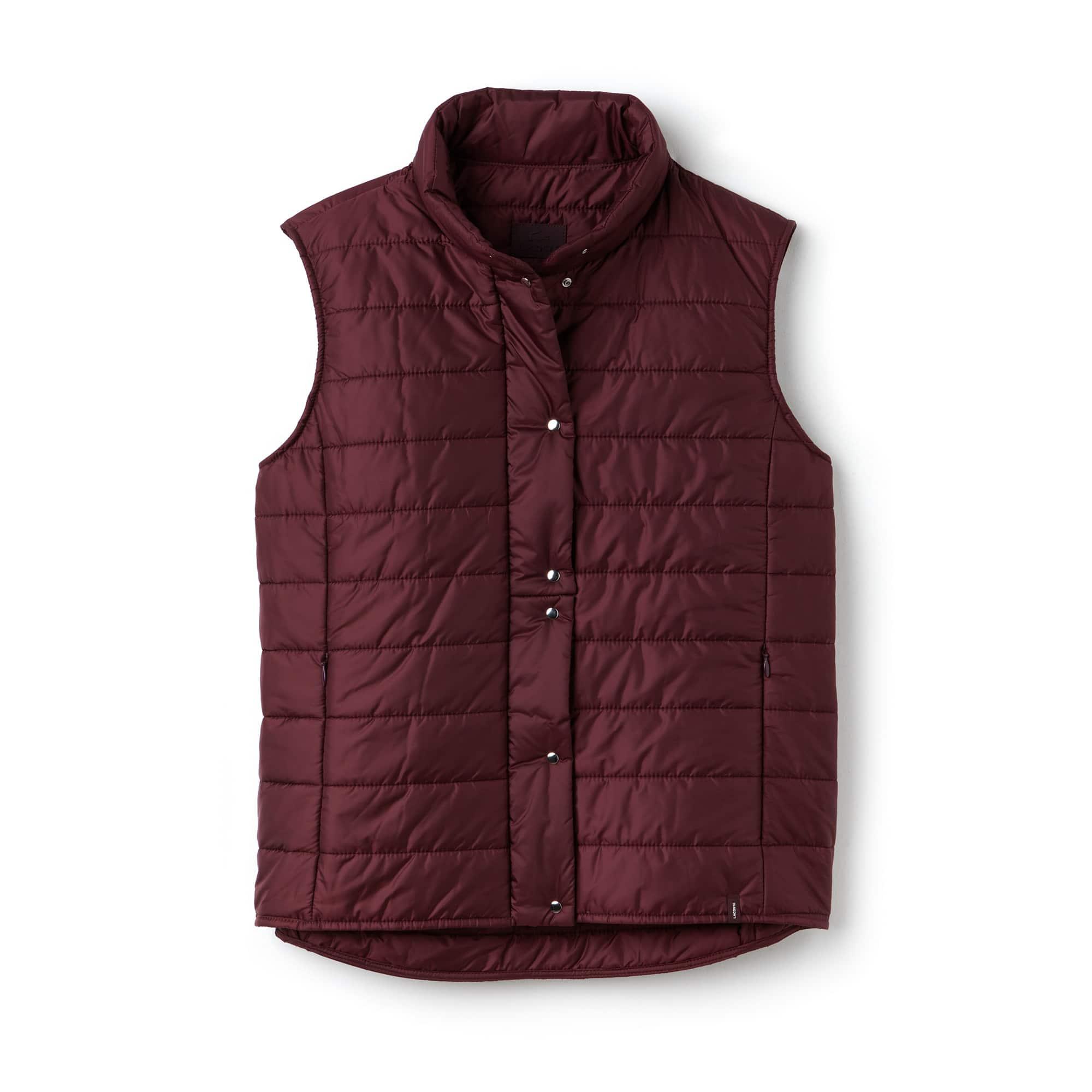 라코스테 퀼팅 조끼 Lacoste Womens Lightweight Quilted Down Taffeta Vest,vendange