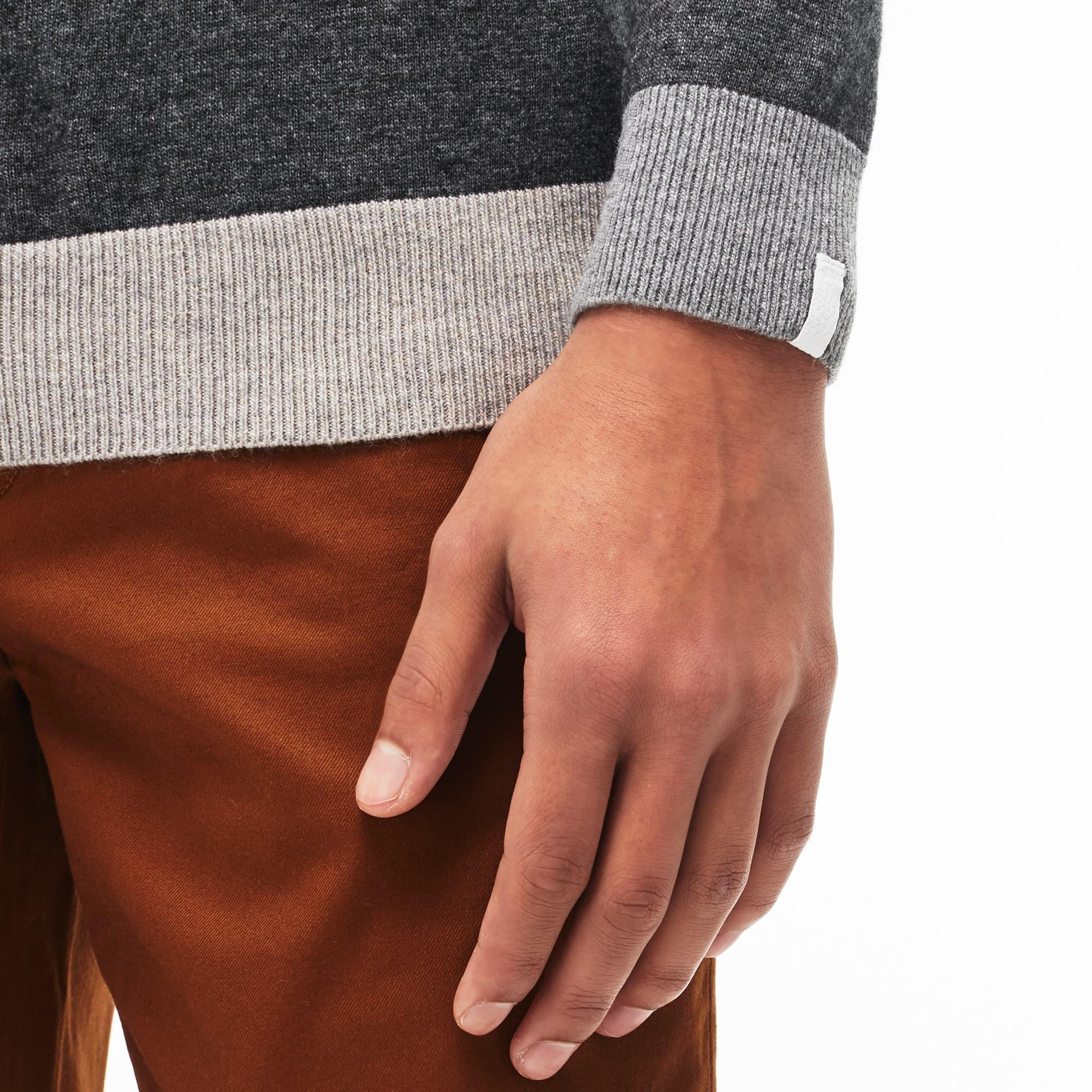 Men s Lacoste LIVE Crew Neck Colourblock Jersey Sweater  LACOSTE fa11667143