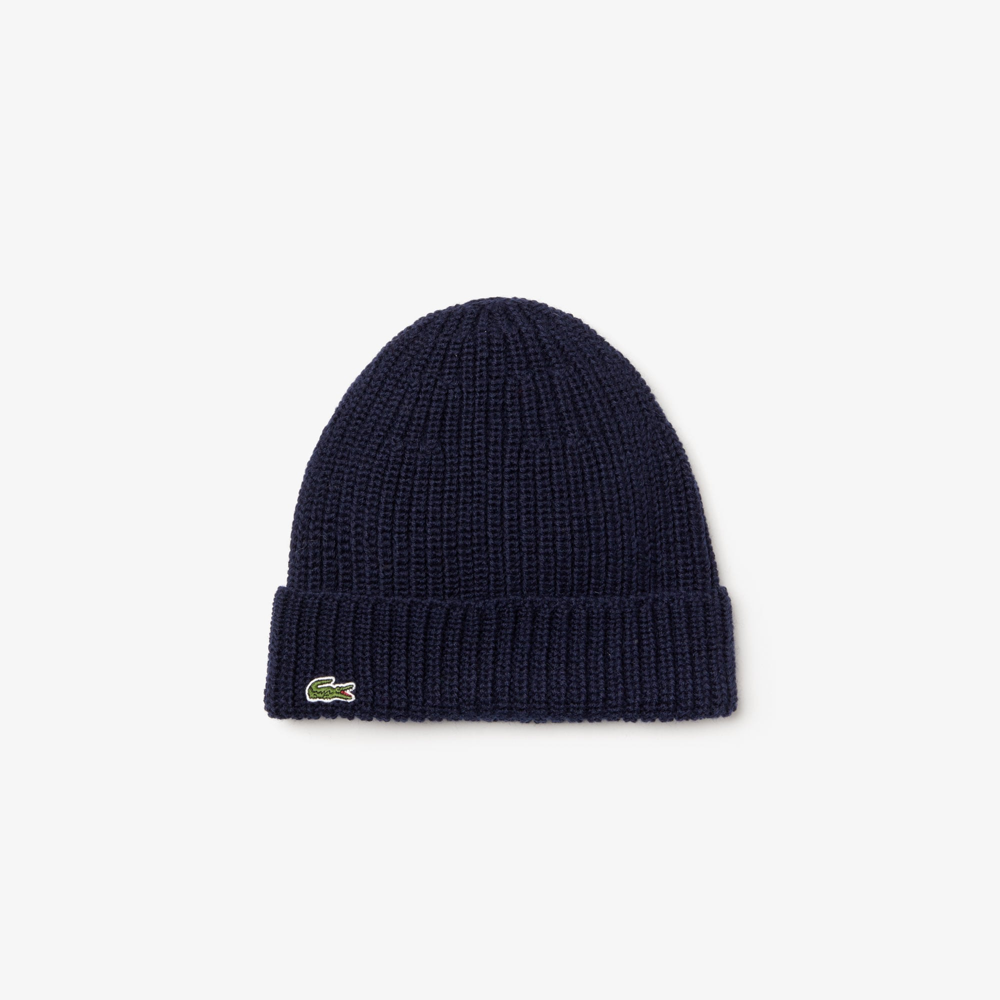 Men's Turned Edge Ribbed Wool Beanie