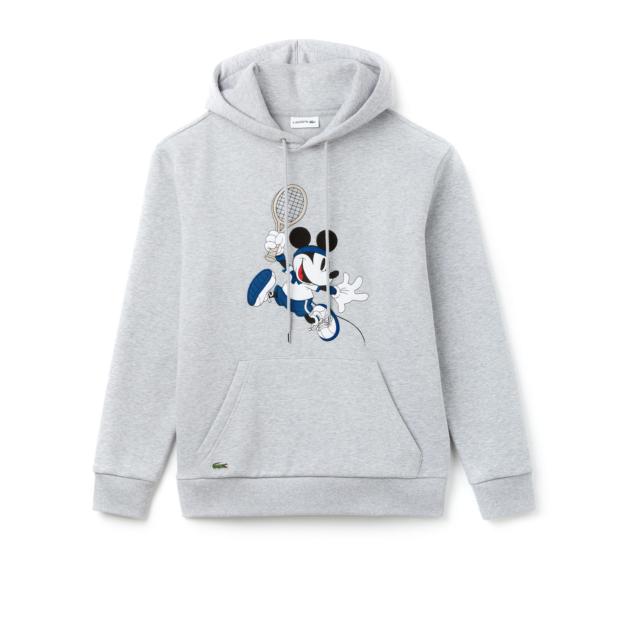 Unisex Disney Mickey Embroidery Hooded Fleece Sweatshirt