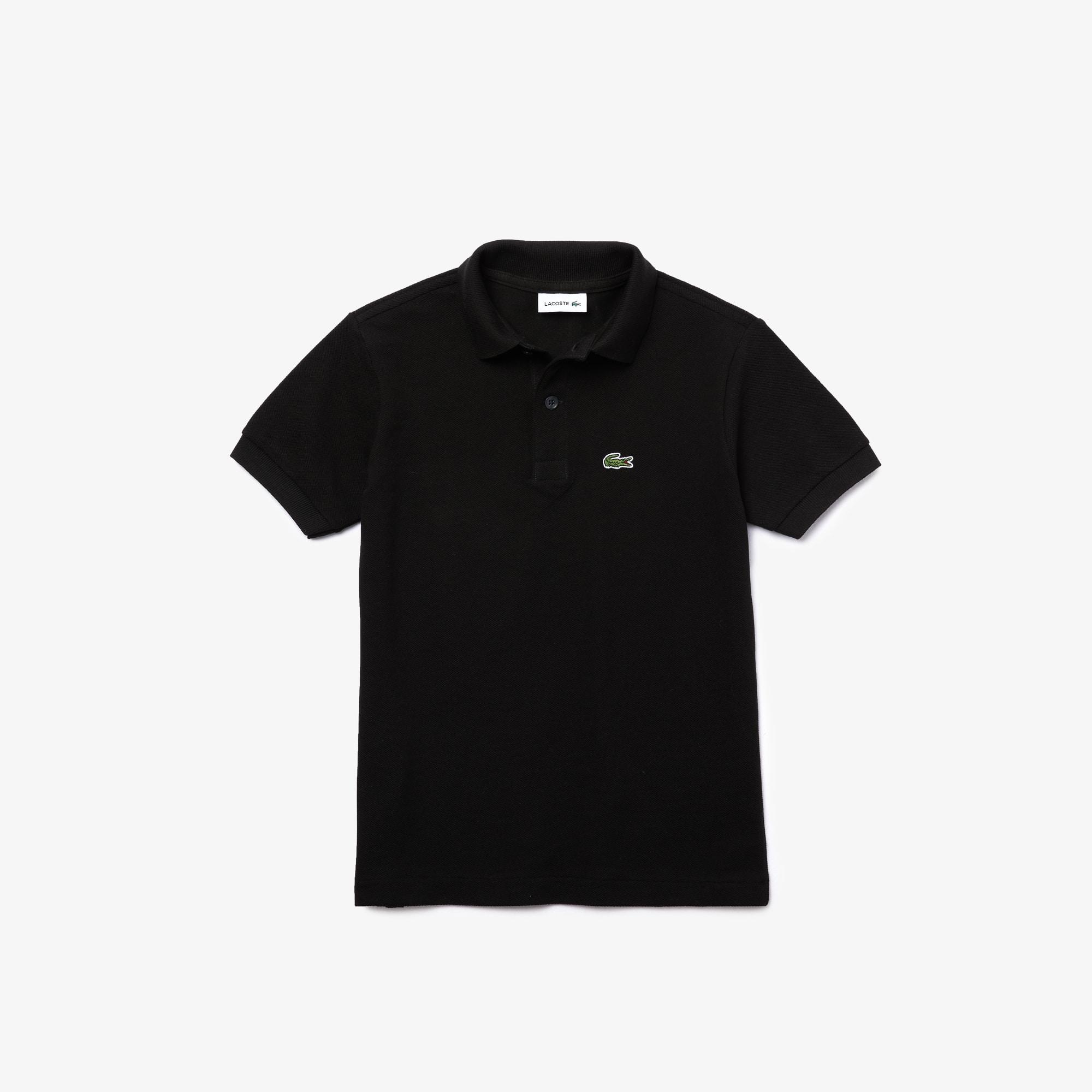 라코스테 보이즈 클래식 피케 폴로셔츠 - 블랙 Lacoste Boys' Classic Pique Polo