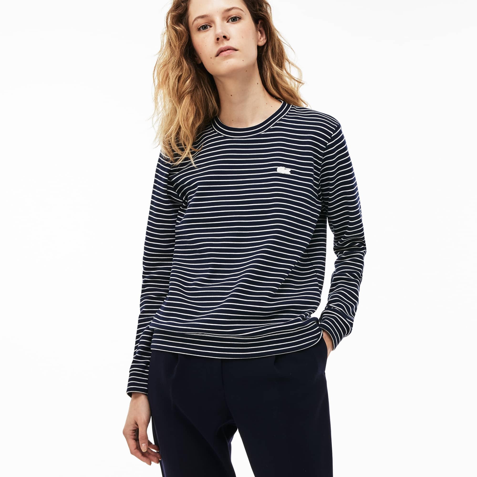 Women's Crew Neck Stretch Cotton Interlock Sweatshirt
