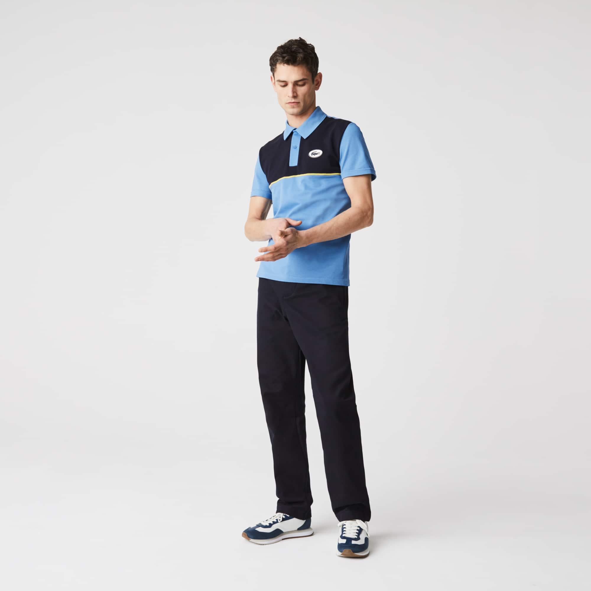 Men's Lacoste Heritage Slim Fit Stretch Cotton Pique Polo Shirt