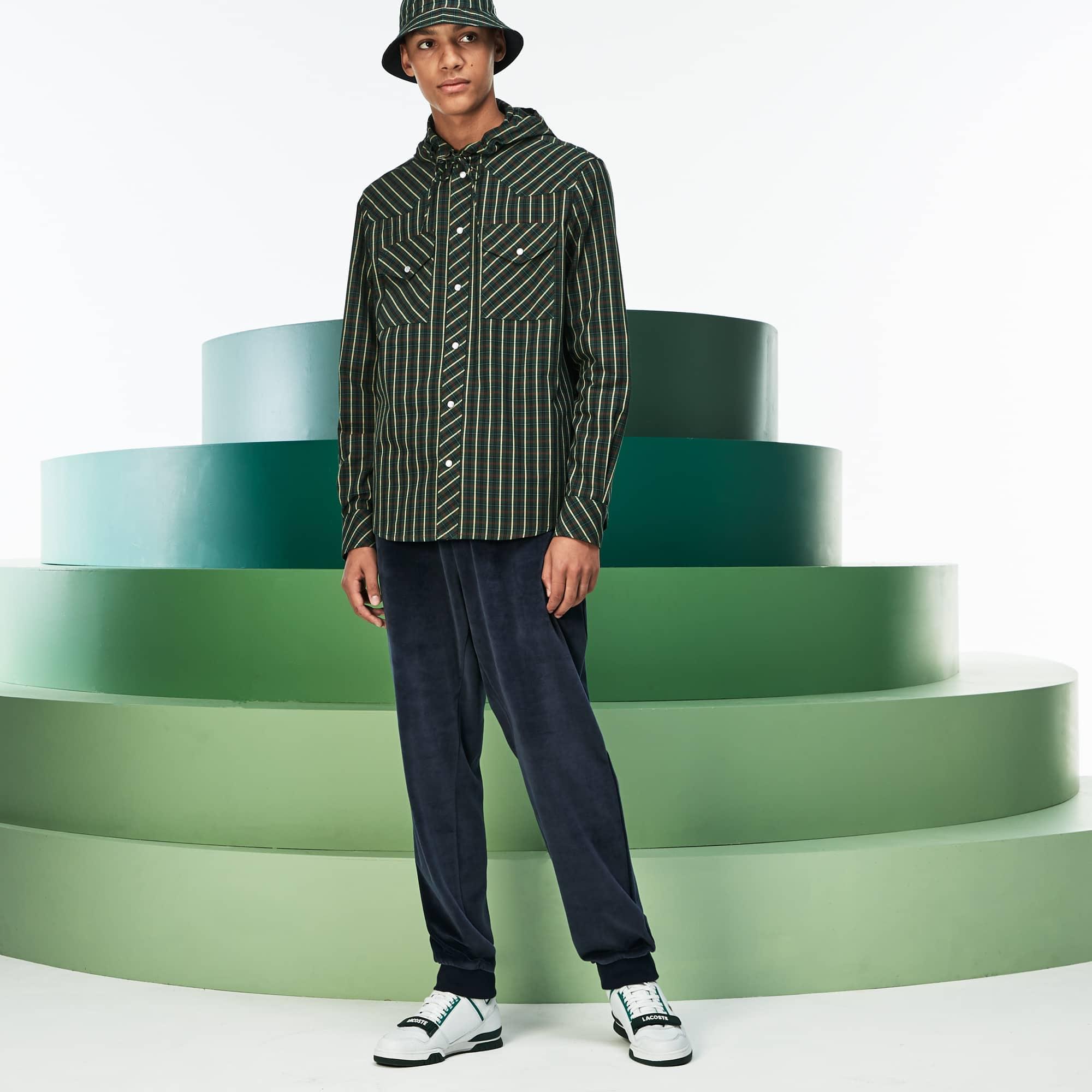 Men's Fashion Show Quilted Velour Sweatpants