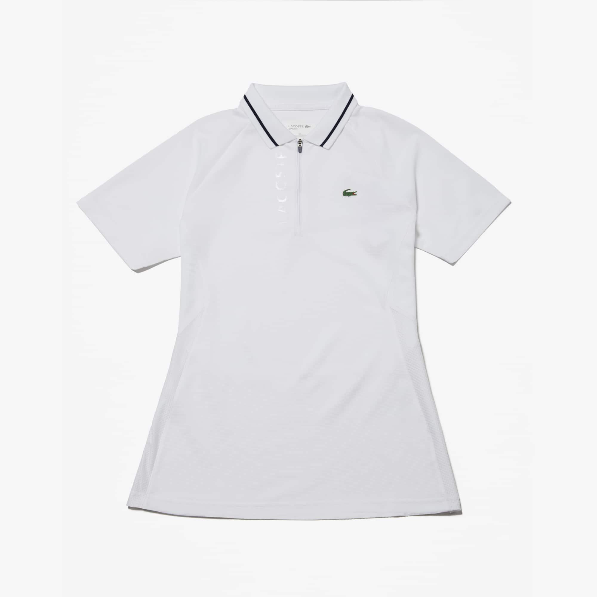 라코스테 스포츠 테니스 반팔 티셔츠 Lacoste Womens SPORT Technical Golf Polo,White / White / Navy Blue