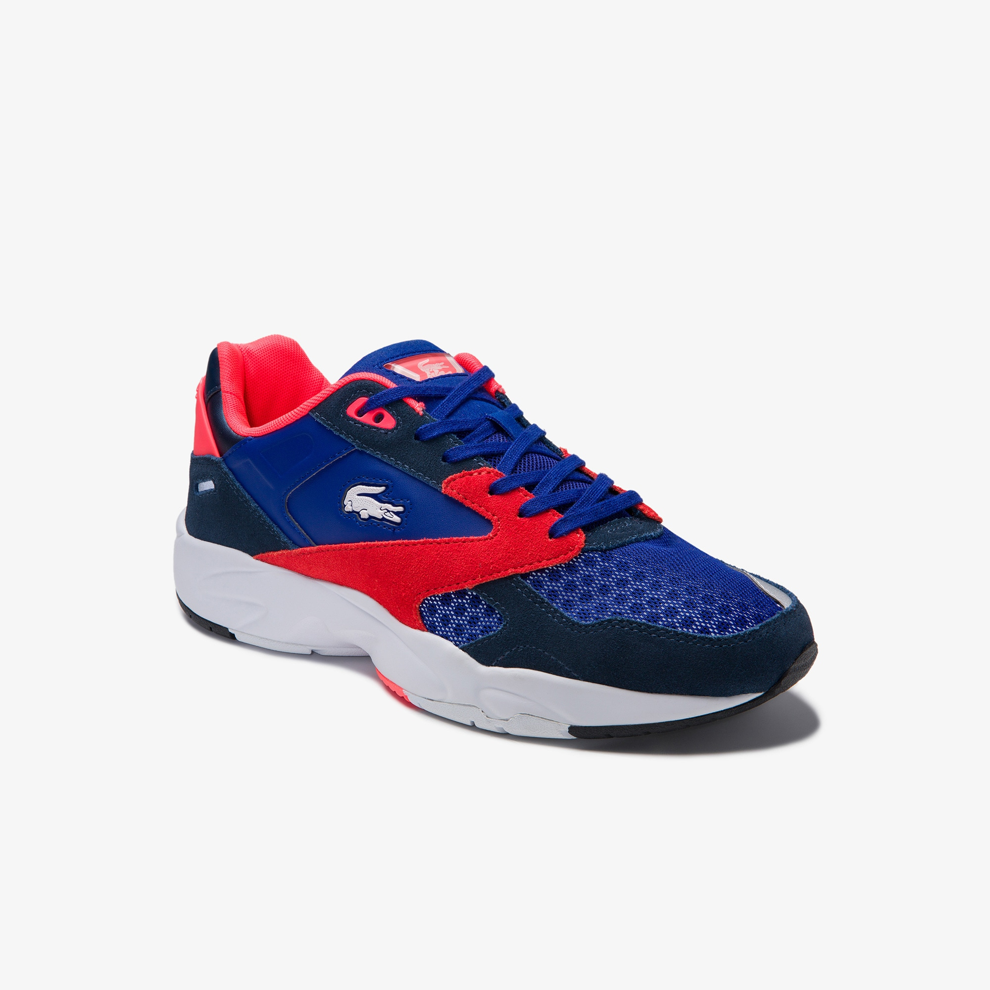 Lacoste Mens Storm 96 LO Textile, Synthetic and Suede Trainers