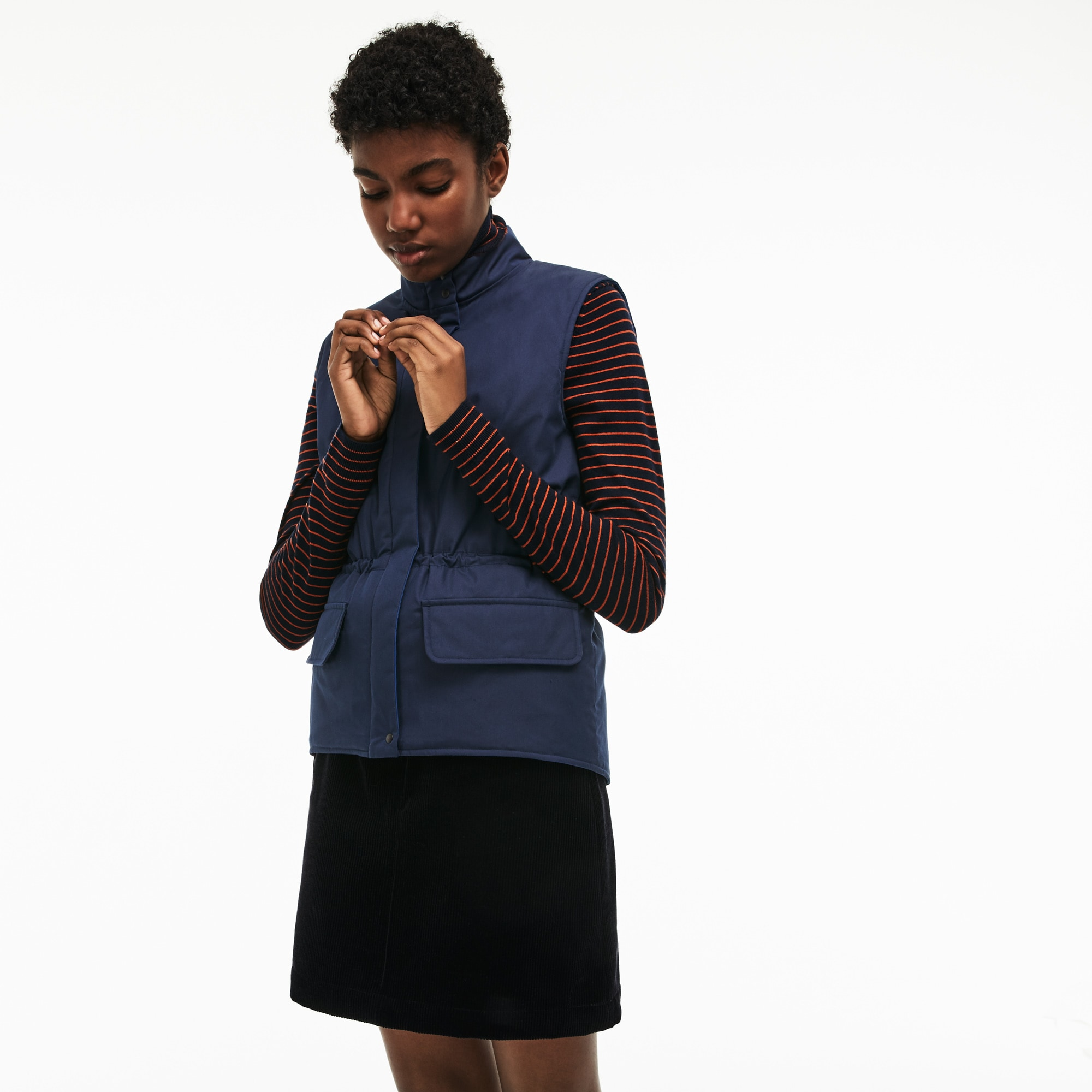 Women's Reversible Cotton And Nylon Twill Quilted Jacket