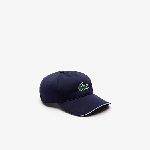 라코스테 스포츠 모자 Lacoste Mens SPORT Technical Pique Golf Cap,Navy Blue / White
