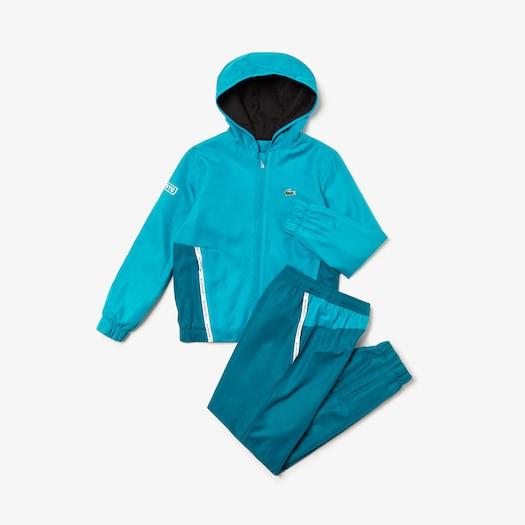 라코스테 보이즈 스포츠 투톤 테니스 트랙 수트 Lacoste Boys SPORT Two-Tone Tennis Track Suit,Blue / White