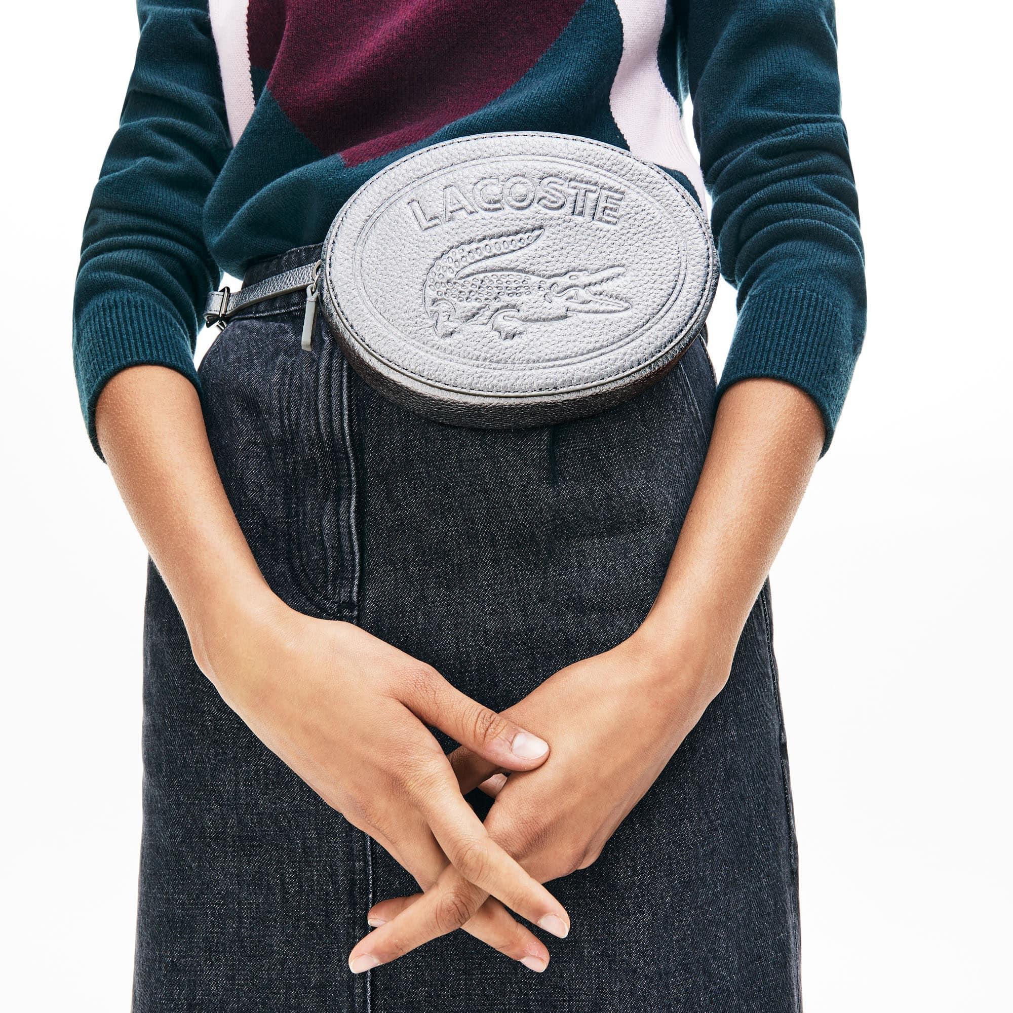 Women's Croco Crew Grained Leather Oval Belt Bag