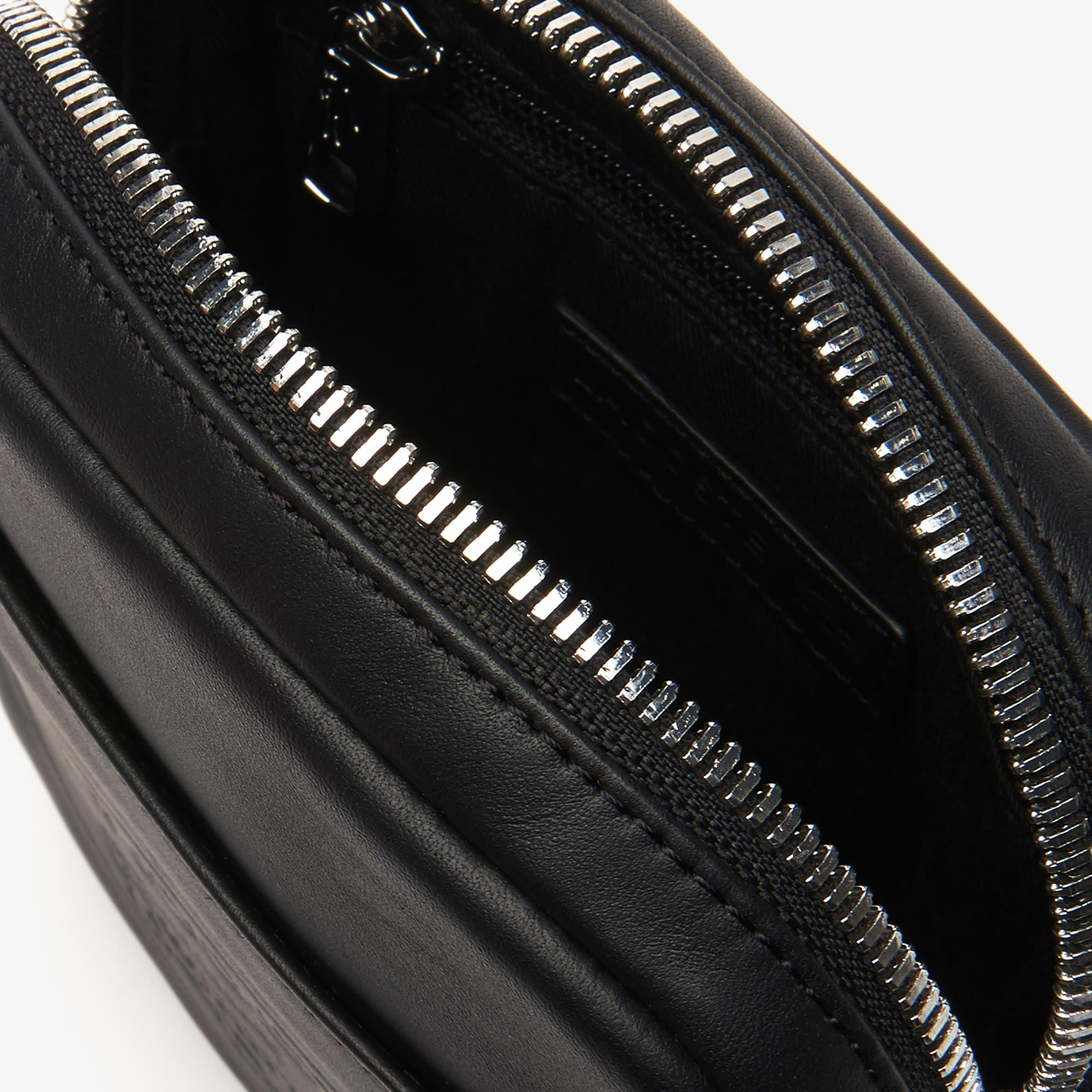 89c020b8bd Men'S L.12.12 Casual Embossed Lettering Vertical Leather Bag in Black