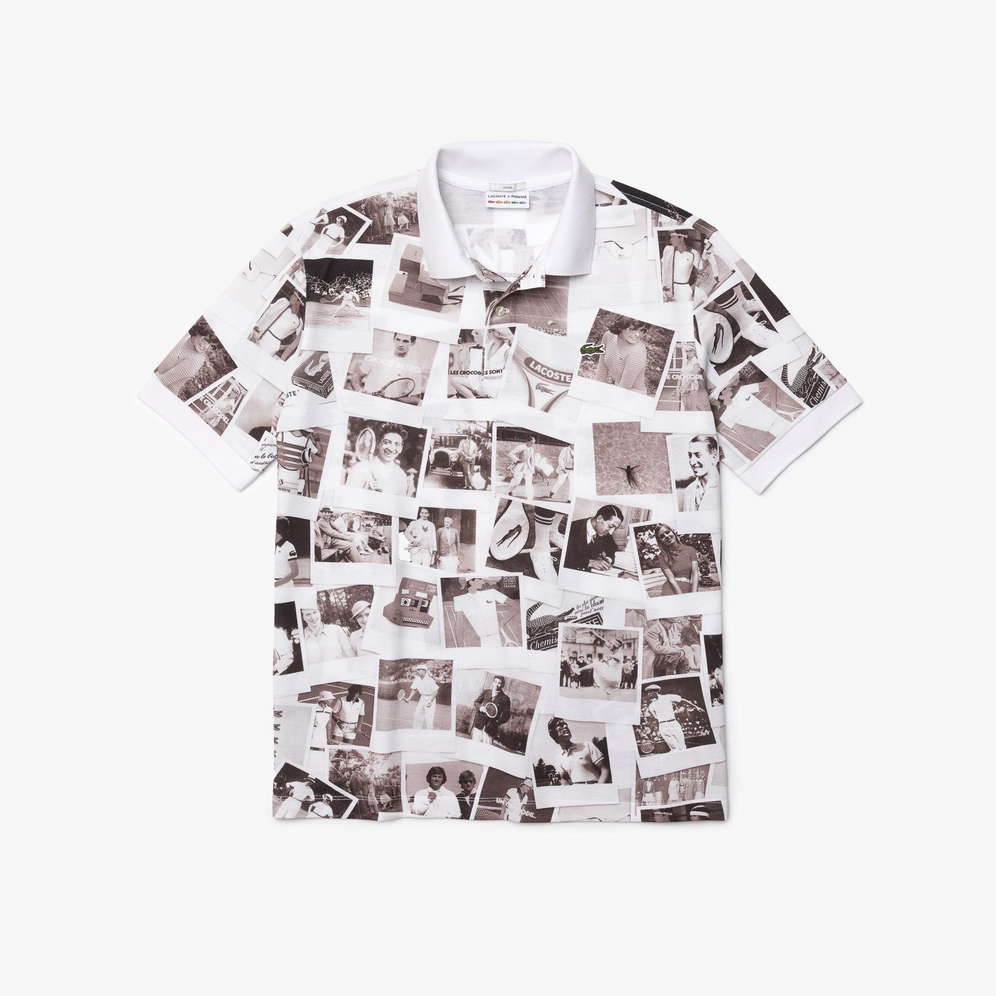라코스테 남녀공용 라이브 라코스테 Lacoste Unisex LIVE Polaroid Collaboration Loose Fit Polo