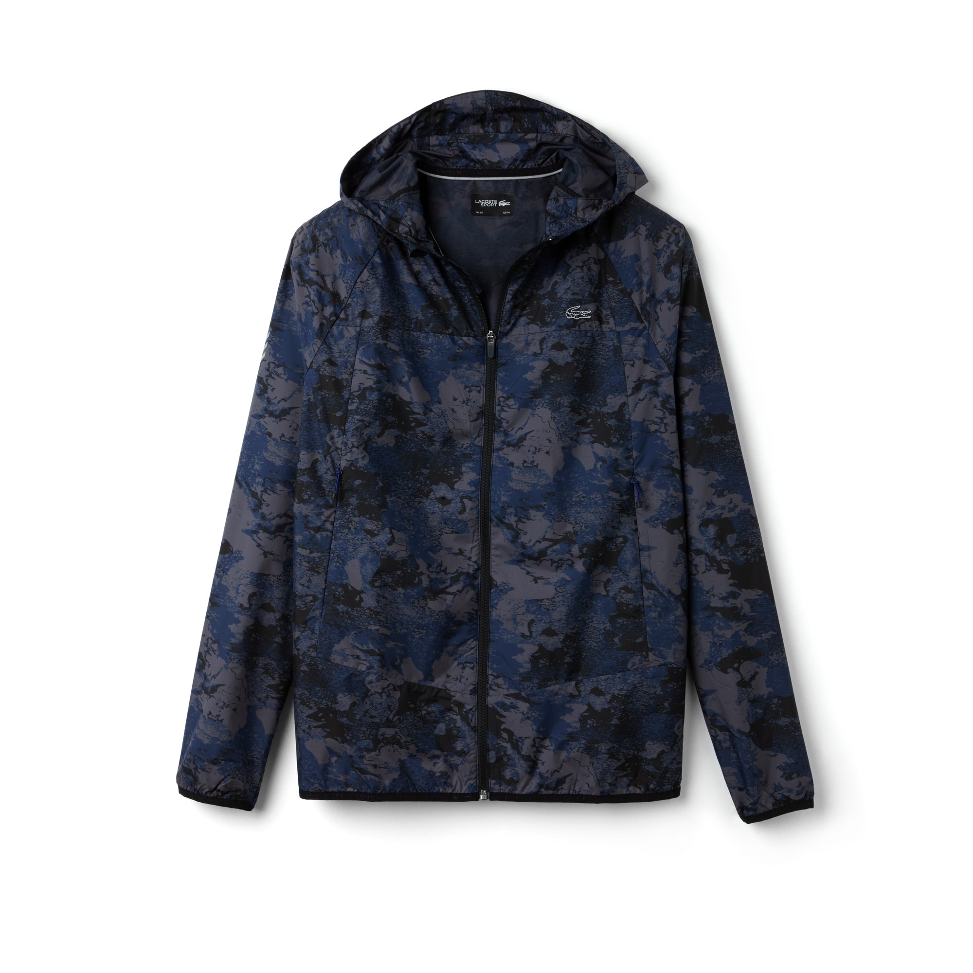 Mens SPORT Tennis Hooded Graphic Print Jacket