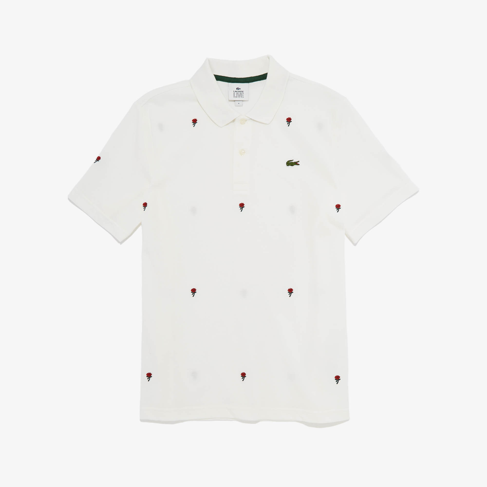 Men's LIVE Classic Fit Rose Embroidery Cotton Piqué Polo