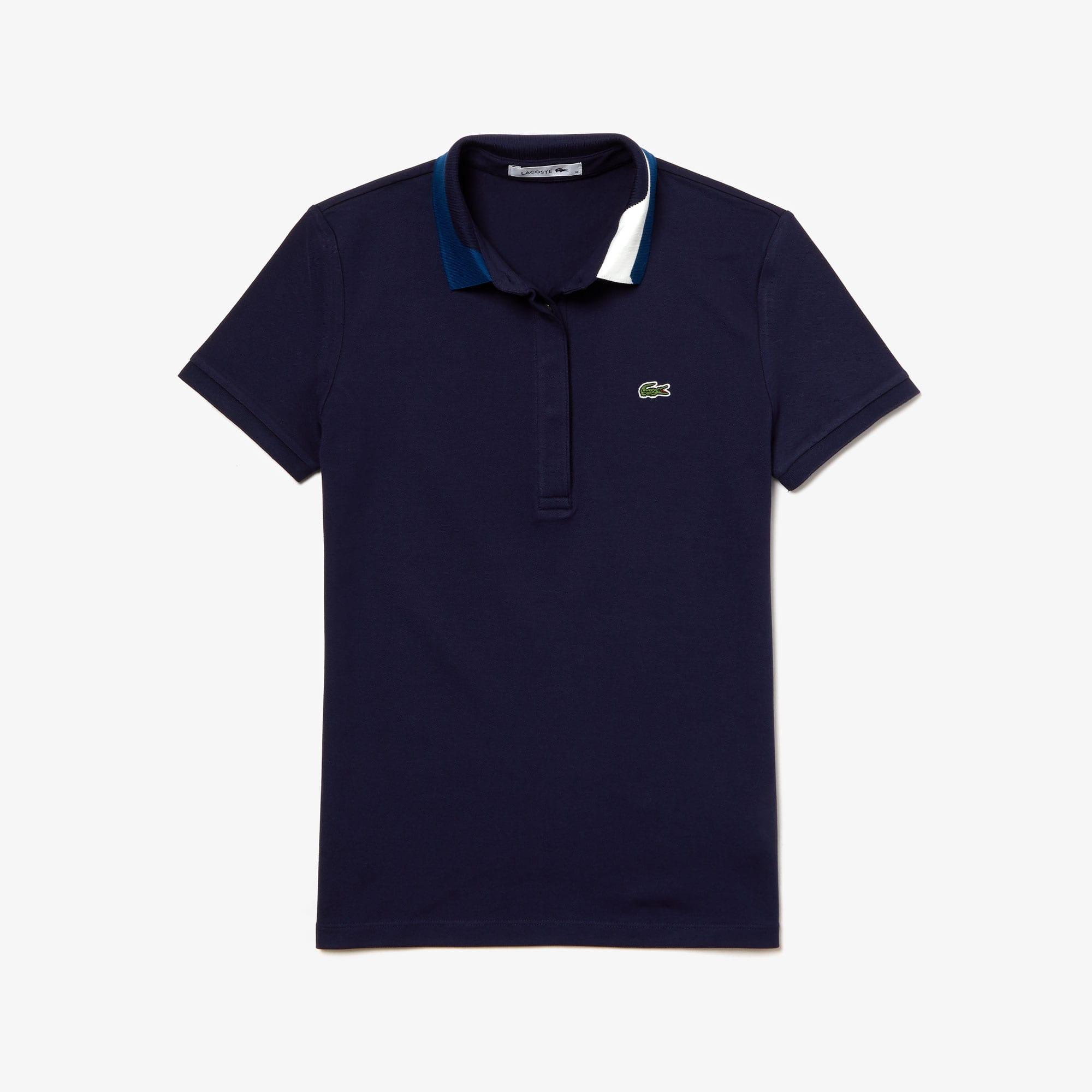 Lacoste Tops Women's Slim Fit Stretch Piqué Polo Shirt