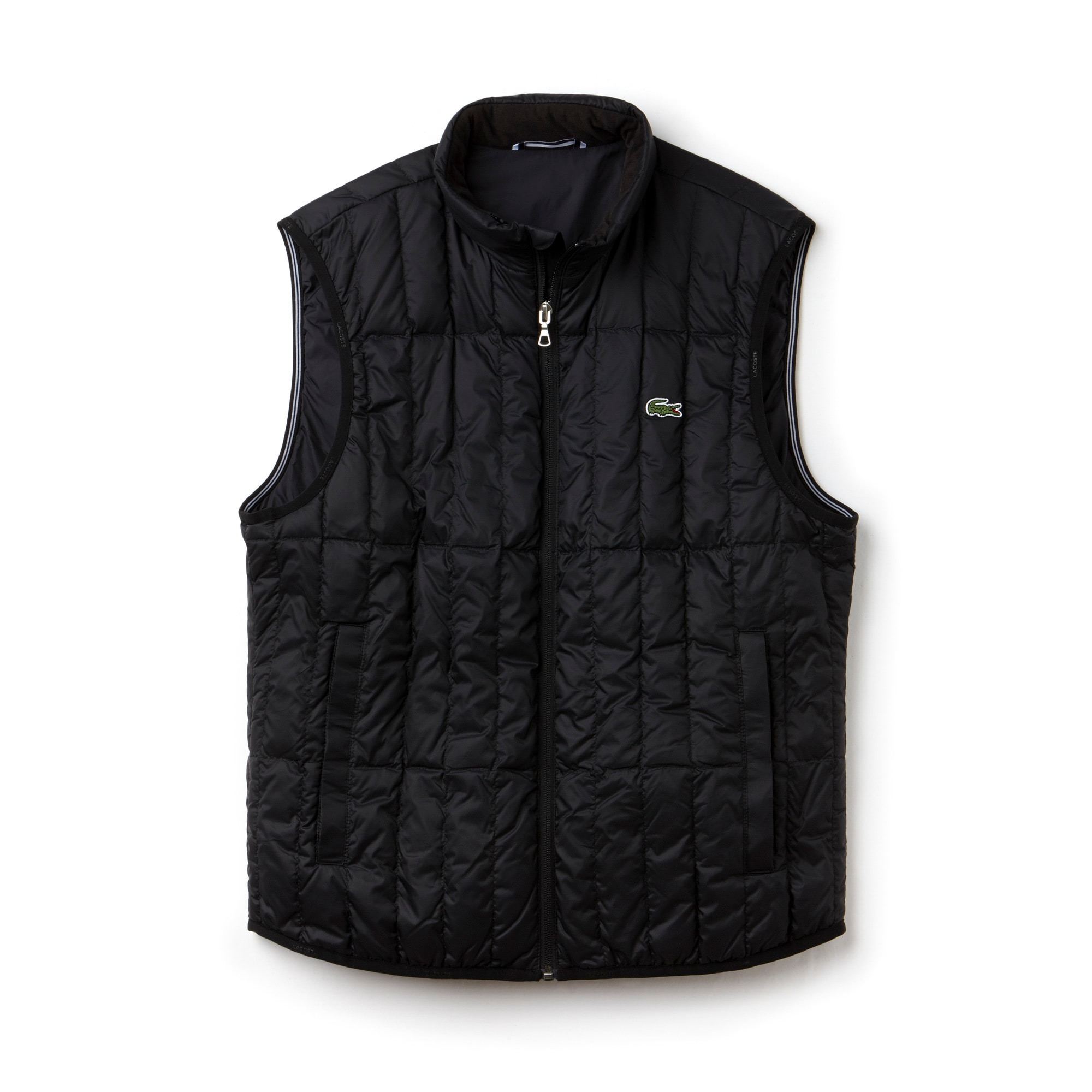 Men's Lightweight Built-in Hood Quilted Down Packable Vest | LACOSTE : mens lightweight quilted jacket - Adamdwight.com