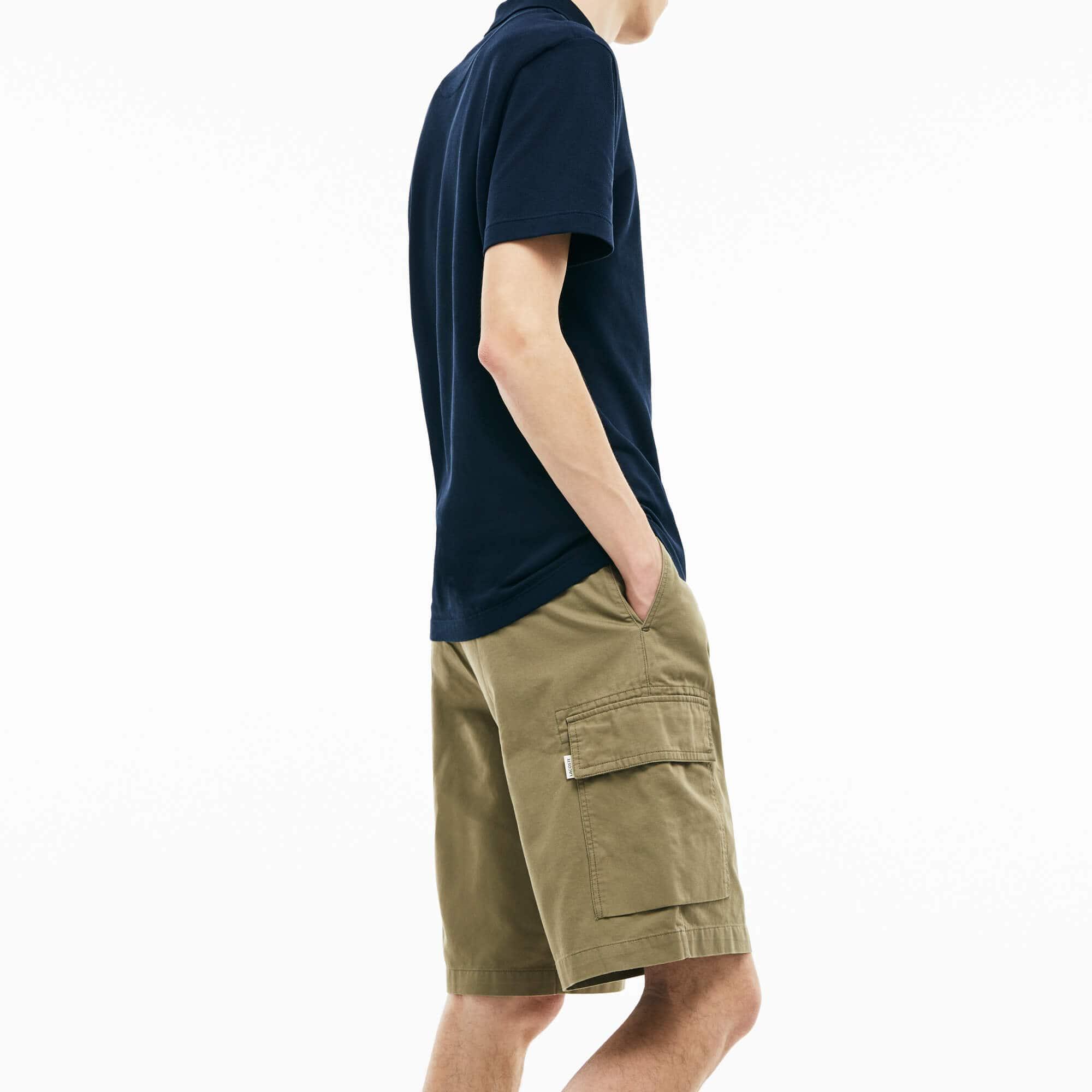 Men's Twill Cargo Bermuda Shorts