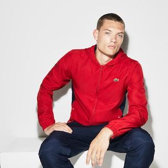 라코스테 스포츠 컬러블록 테니스 트랙 수트 Lacoste Mens SPORT Colorblock Taffeta Tennis Tracksuit,Red / Navy Blue / Navy Blue