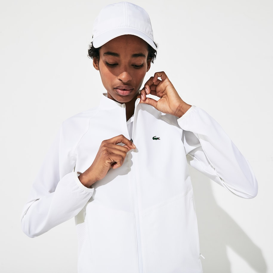 Women's SPORT Water Resistant Mesh-Back Zip Up Tennis Jacket