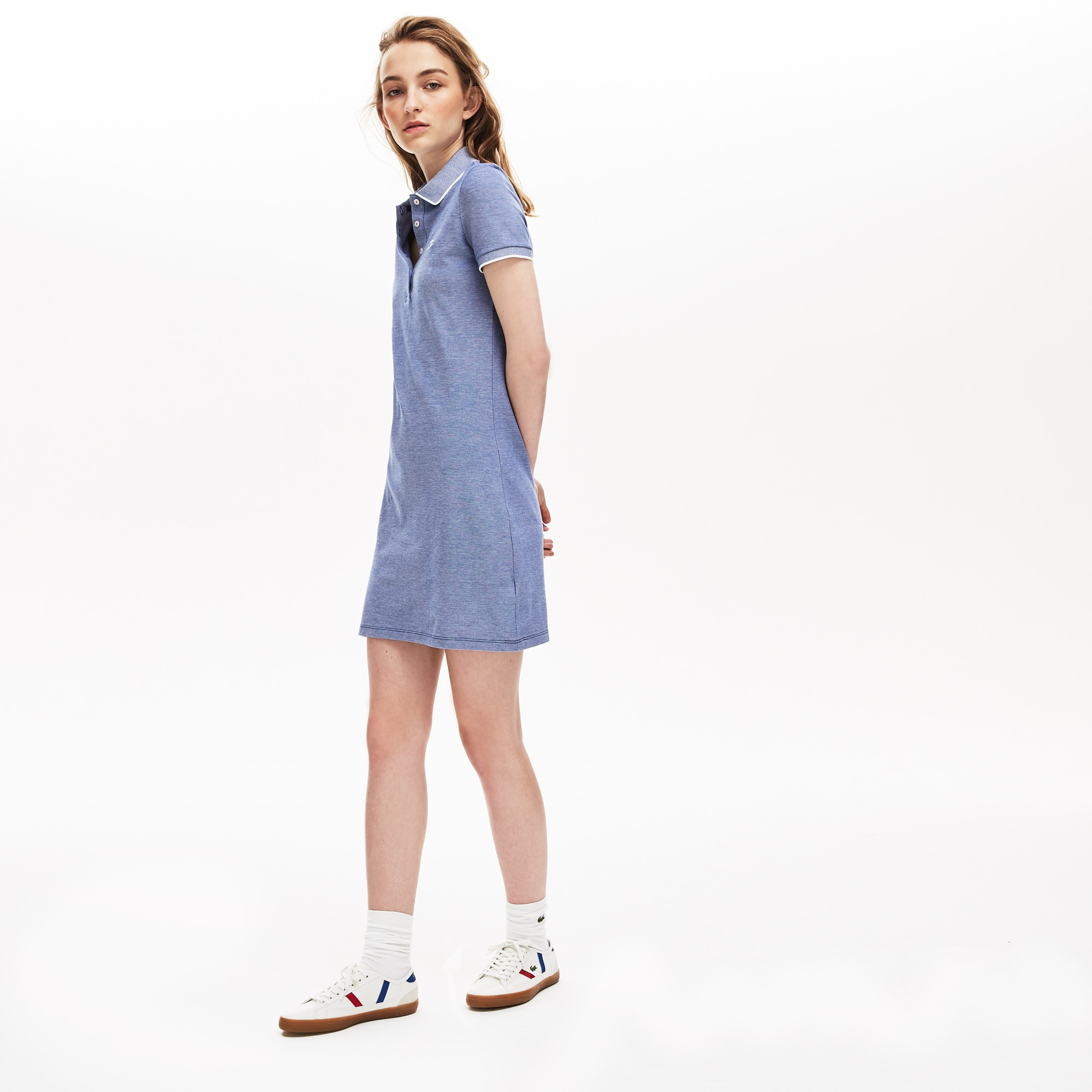 b5222fc5 + 2 colors. 50% off. Women's Slim Fit Mini Piqué Polo Dress