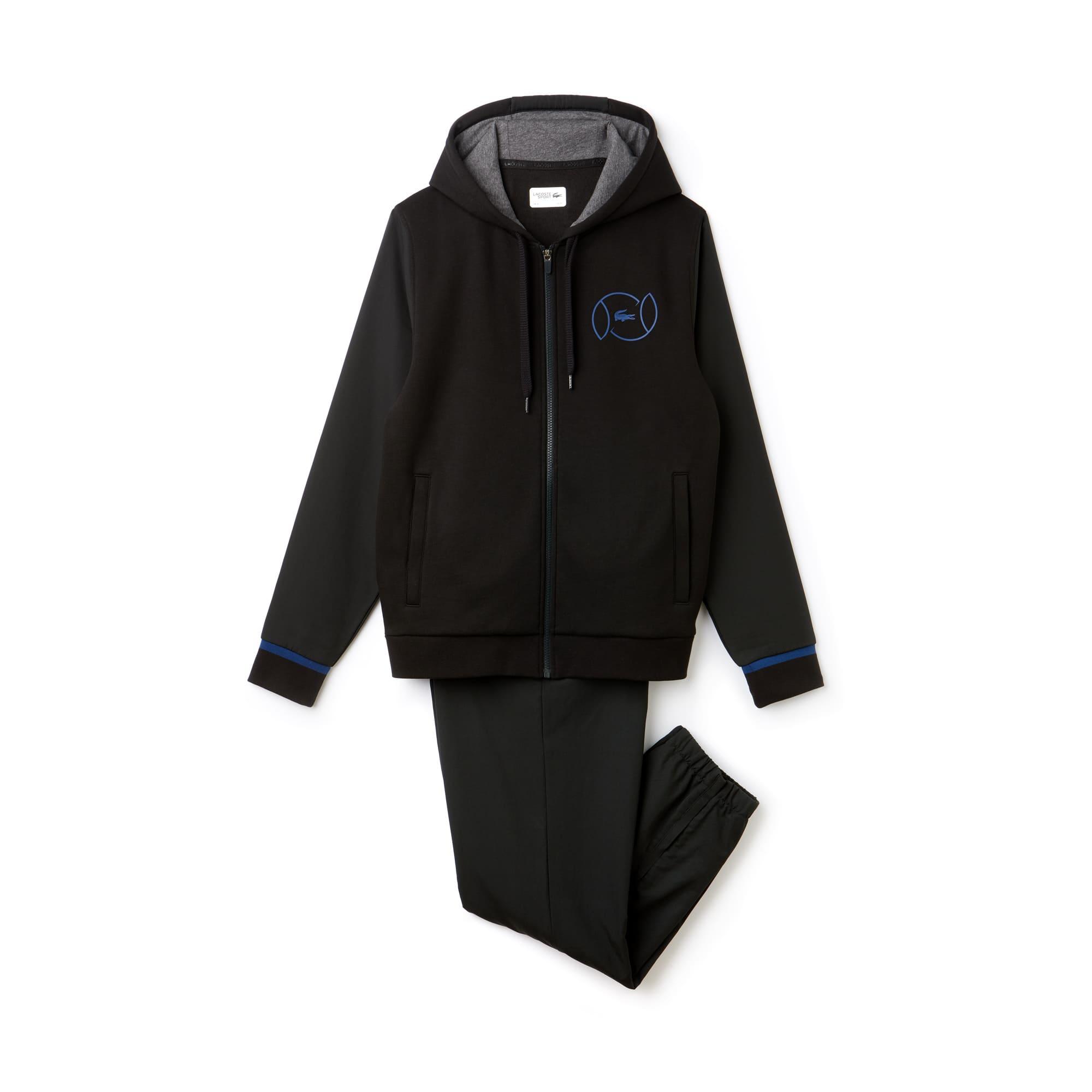 라코스테 스포츠 트랙 수트 Lacoste Mens SPORT Fleece And Taffeta Tennis Tracksuit,black/inkwell-pitch