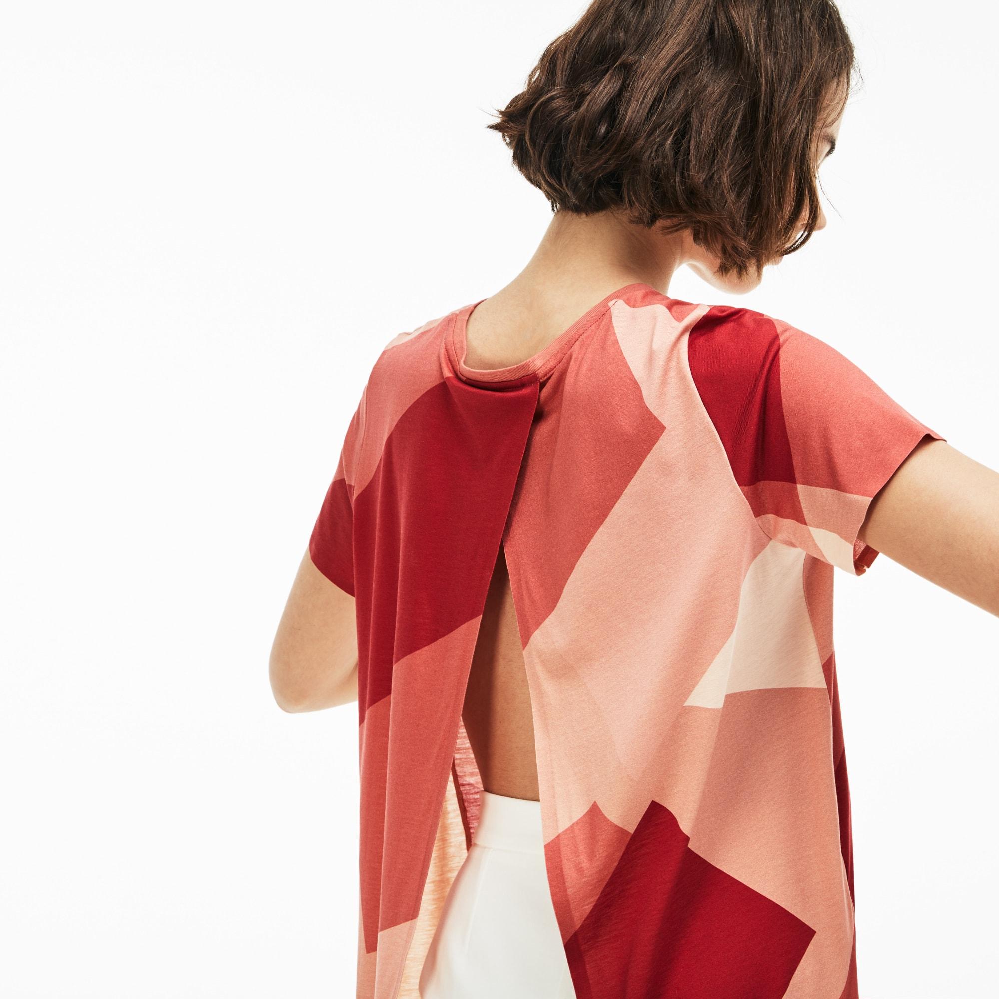 Women's Open Back Print T-Shirt