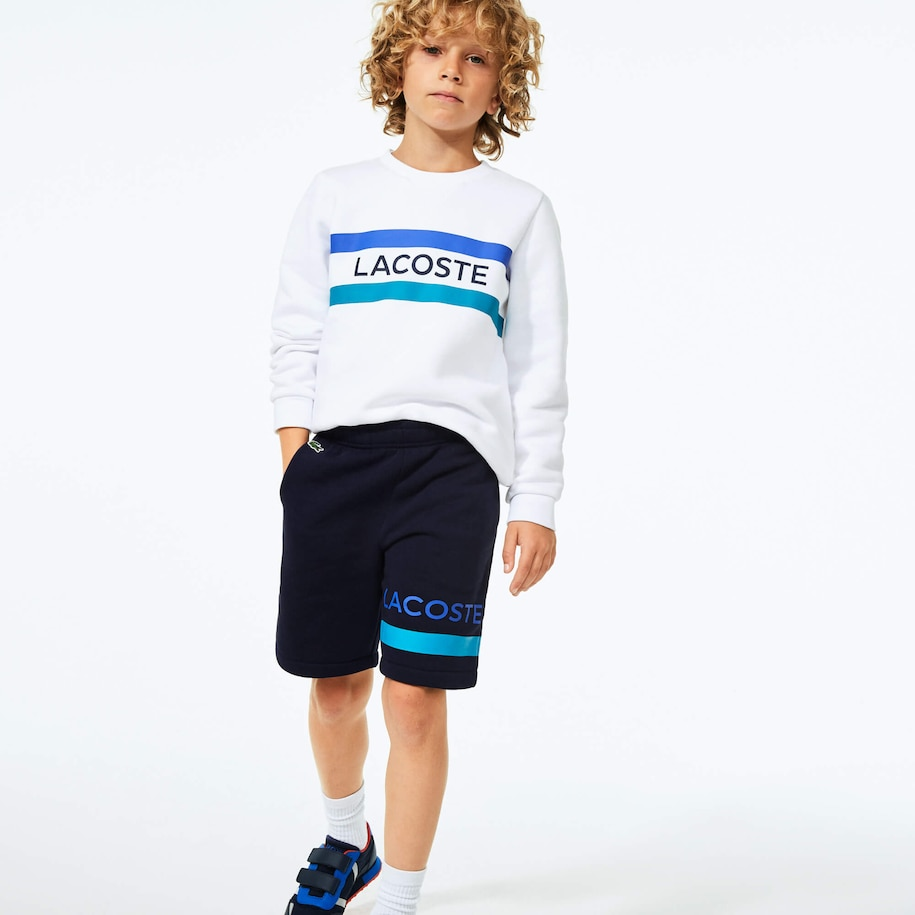 Boys' SPORT Logo and Stripe Training Shorts