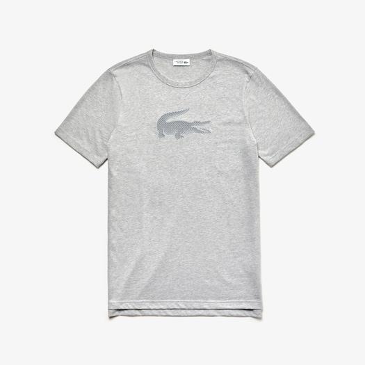 라코스테 스포츠 티셔츠 Lacoste Mens SPORT Crew Neck Cotton T-shirt,Grey Chine - CCA