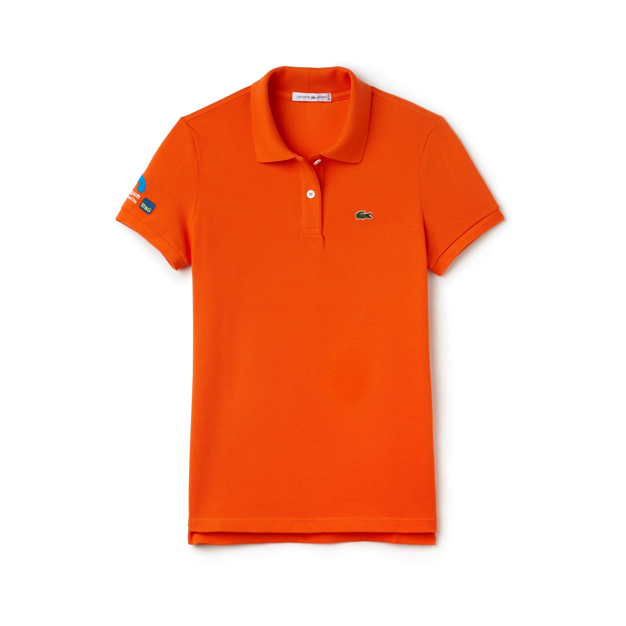 라코스테 테니스 반팔 티셔츠 쁘띠 피케 폴로 마이애미 오픈 에디션 Lacoste Womens SPORT Miami Open Edition Petit Pique Polo,Orange - P40