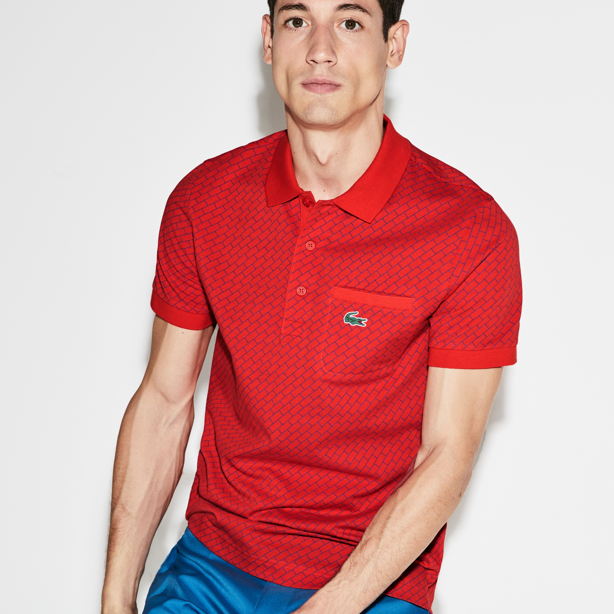 Men's SPORT Print Ultra-Light Cotton Golf Polo