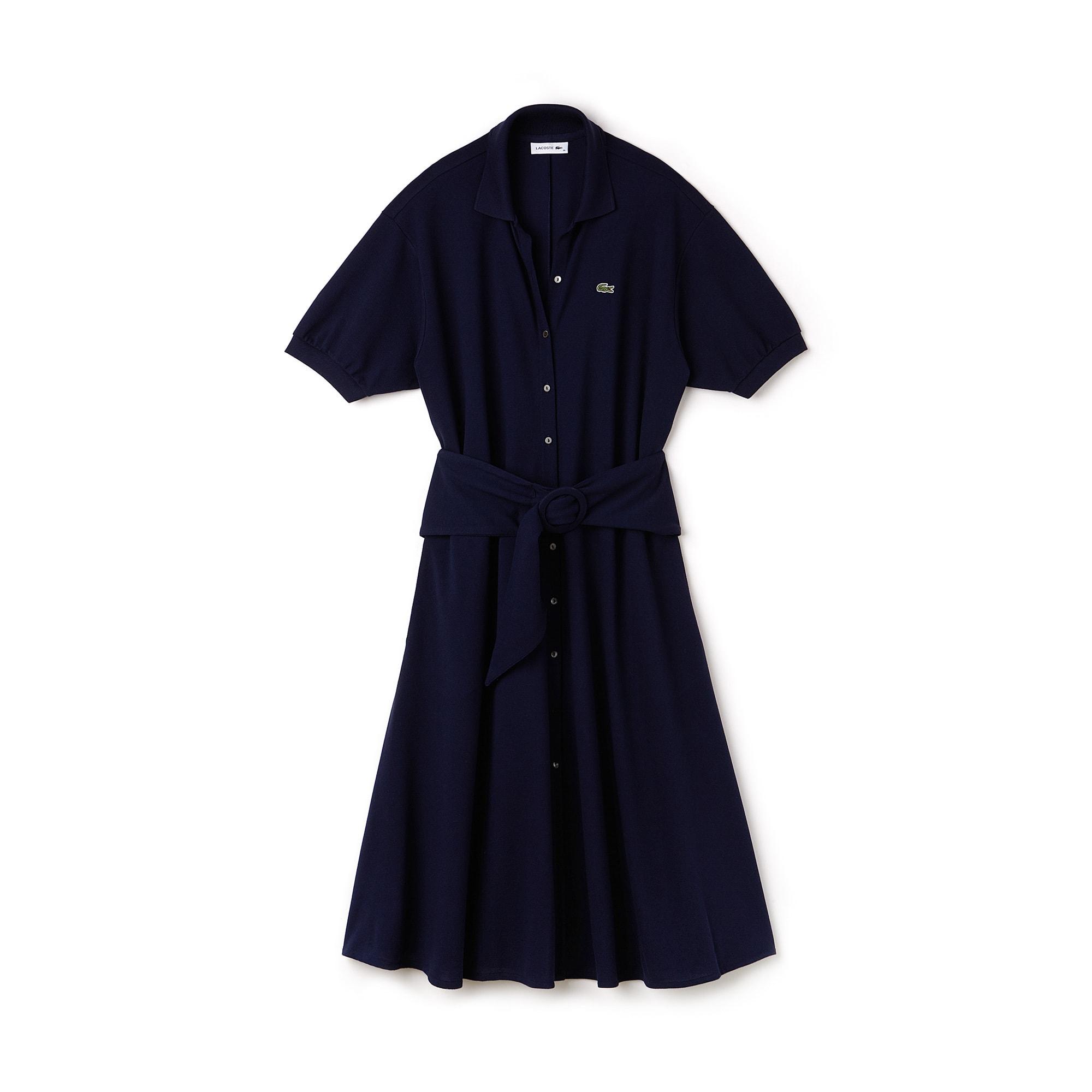 라코스테 폴로 원피스 네이비 블루 Lacoste Womens Soft Cotton Polo Dress,navy blue