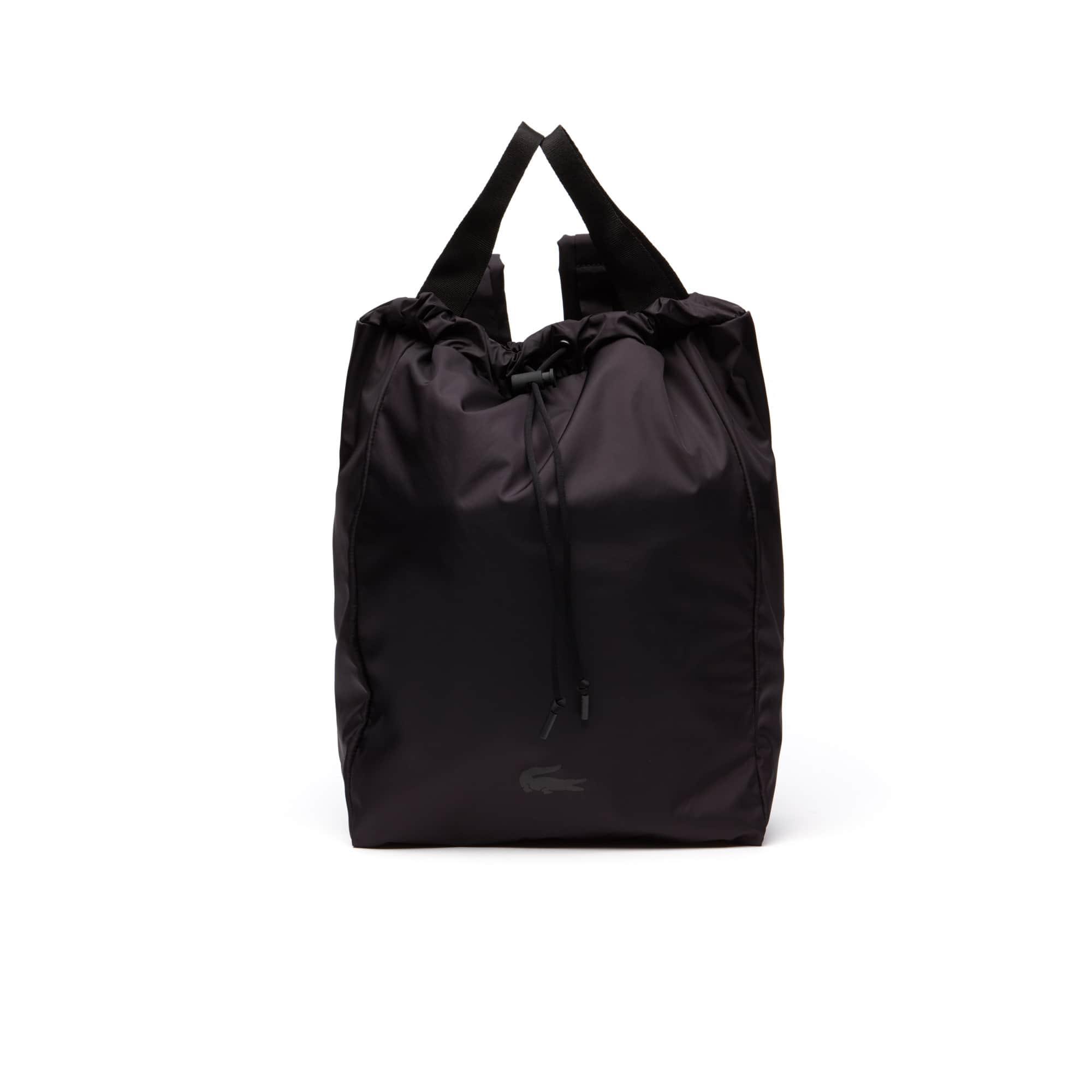 라코스테 백팩 Lacoste Mens Motion Technical Nylon Collapsible Backpack,black