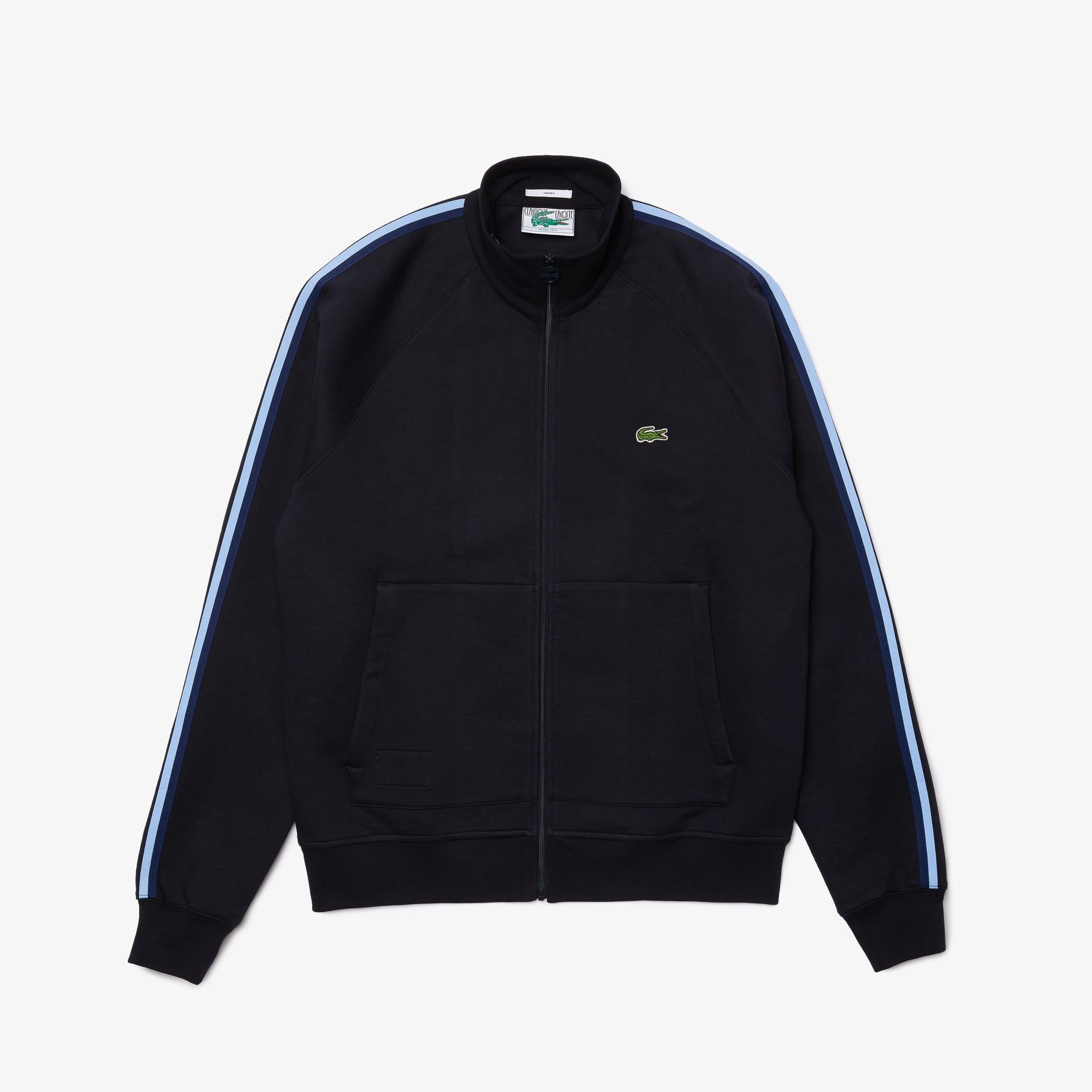라코스테 Lacoste Unisex High-Neck Organic Cotton Zip Sweatshirt